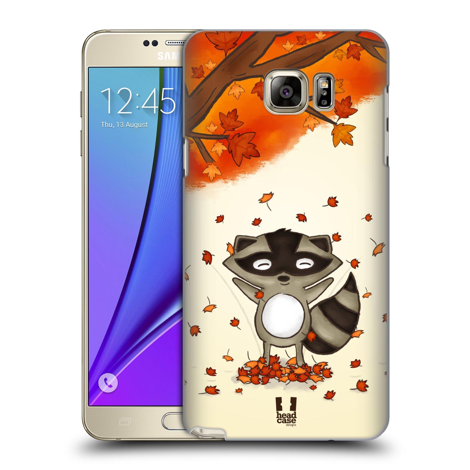 HEAD CASE plastový obal na mobil SAMSUNG Galaxy Note 5 (N920) vzor podzimní zvířátka mýval