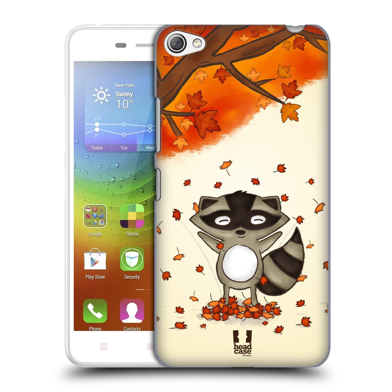 HEAD CASE pevný plastový obal na mobil LENOVO S60 / LENOVO S60 DUAL SIM vzor podzimní zvířátka mýval