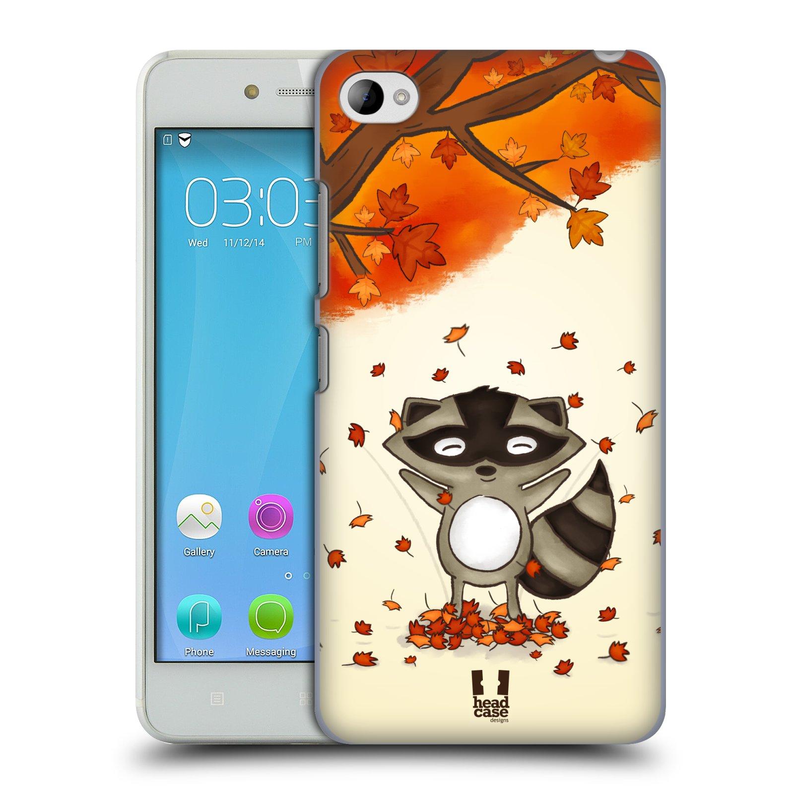 HEAD CASE pevný plastový obal na mobil LENOVO S90 vzor podzimní zvířátka mýval