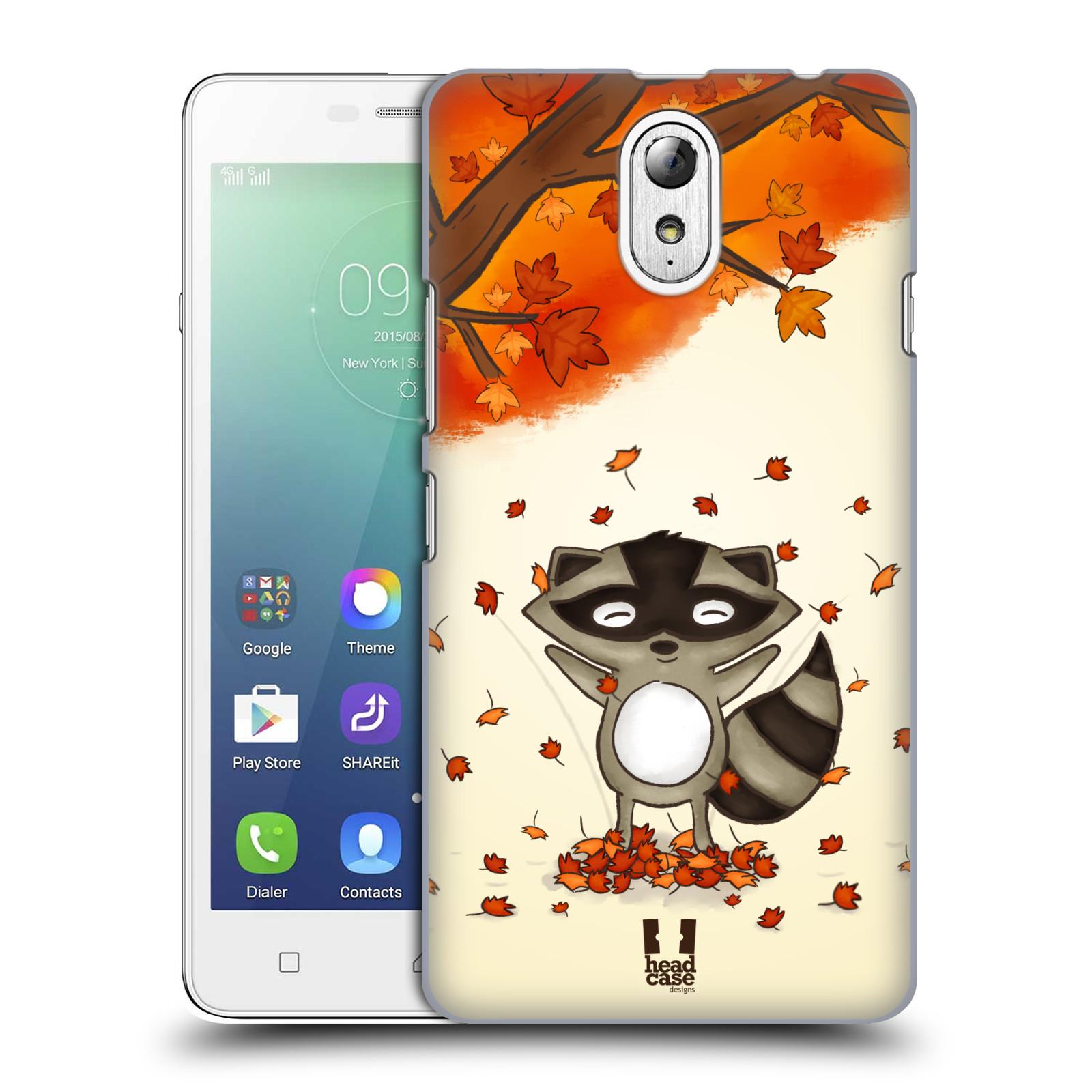 HEAD CASE pevný plastový obal na mobil LENOVO VIBE P1m / LENOVO VIBE p1m DUAL SIM vzor podzimní zvířátka mýval