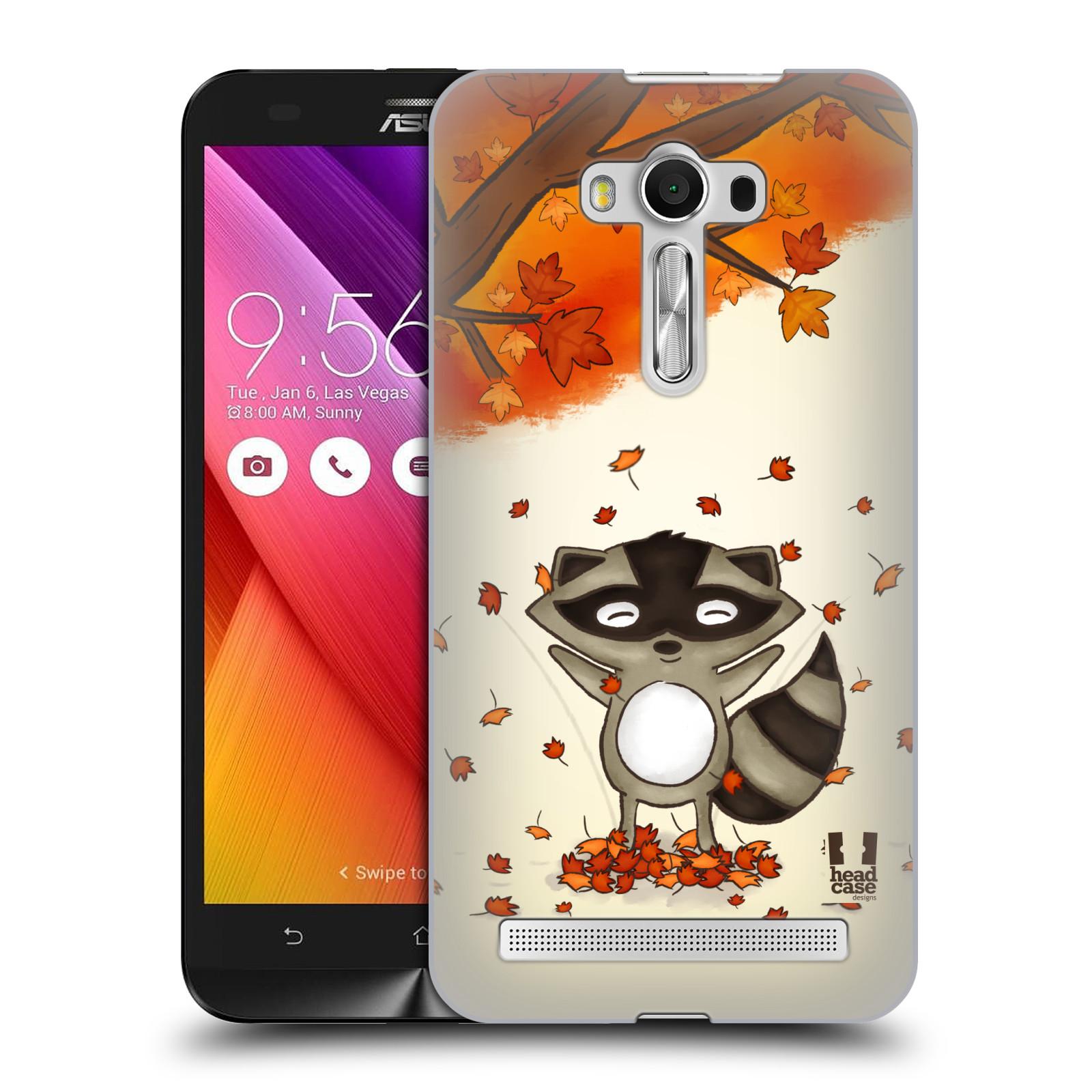 HEAD CASE plastový obal na mobil Asus Zenfone 2 LASER (5,5 displej ZE550KL) vzor podzimní zvířátka mýval