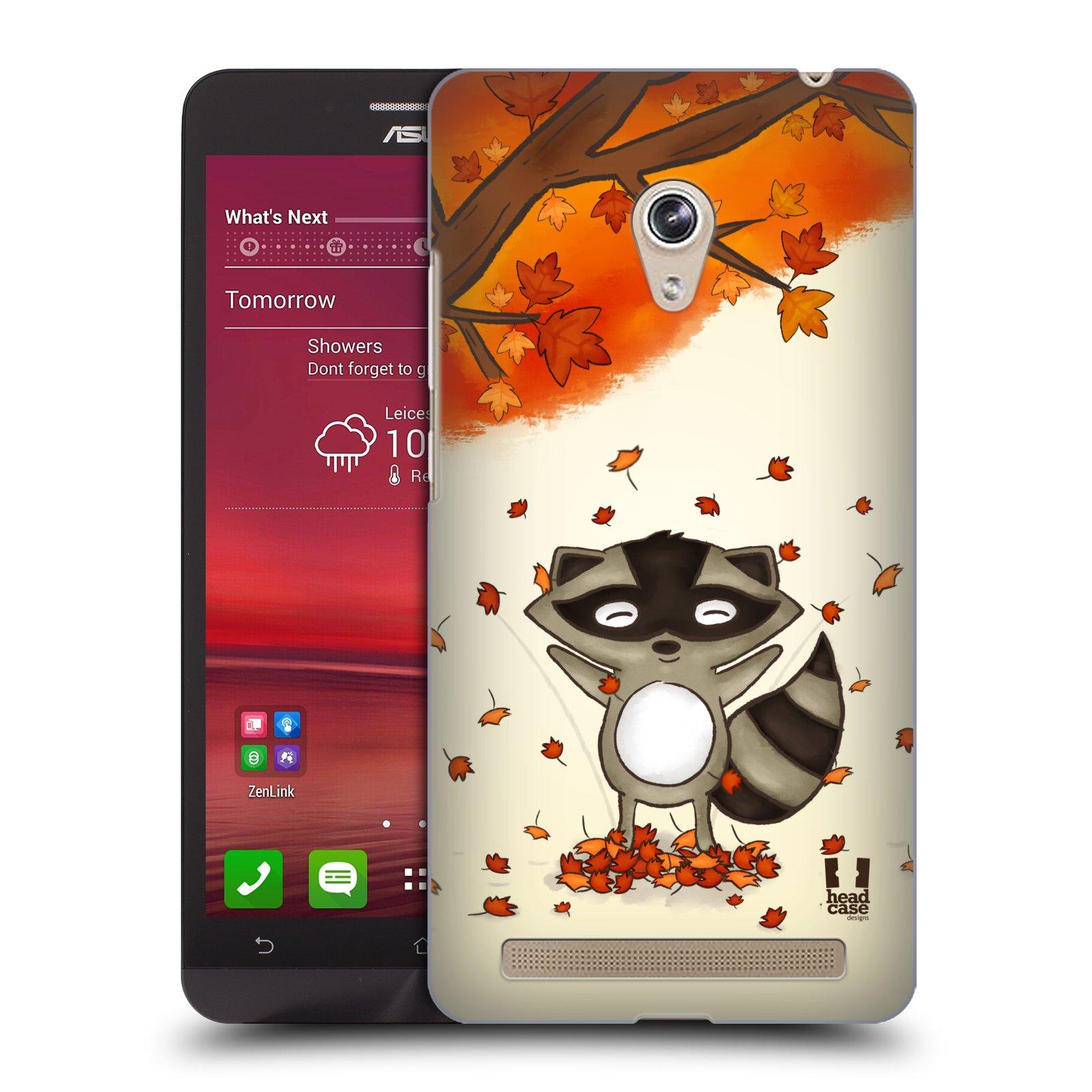 HEAD CASE plastový obal na mobil Asus Zenfone 6 vzor podzimní zvířátka mýval