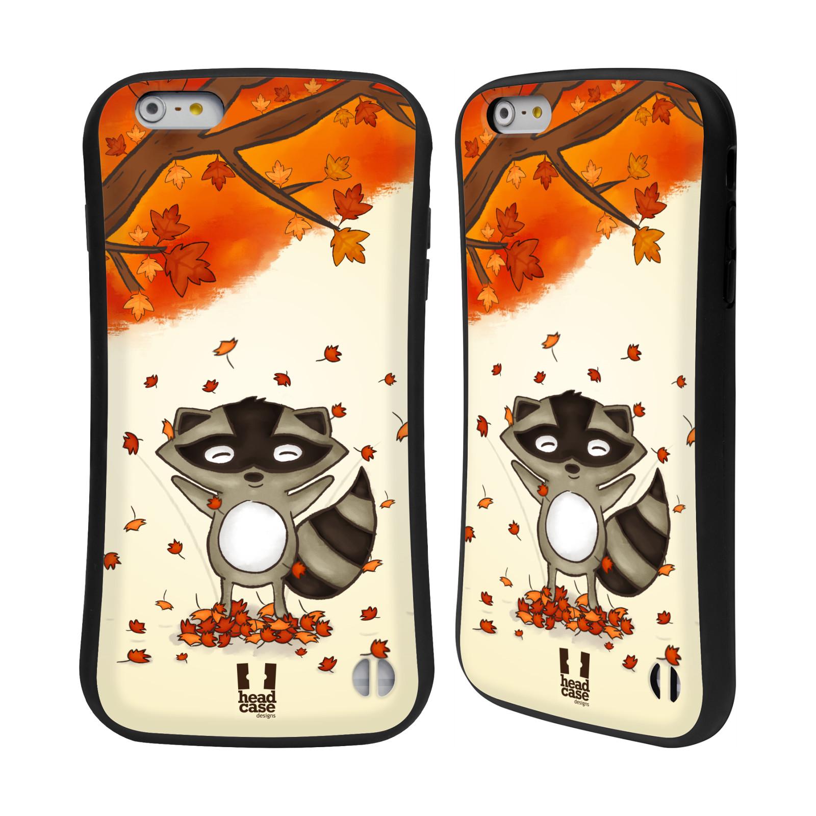 HEAD CASE silikon/plast odolný obal na mobil Apple Iphone 6 PLUS / 6S PLUS vzor podzimní zvířátka mýval
