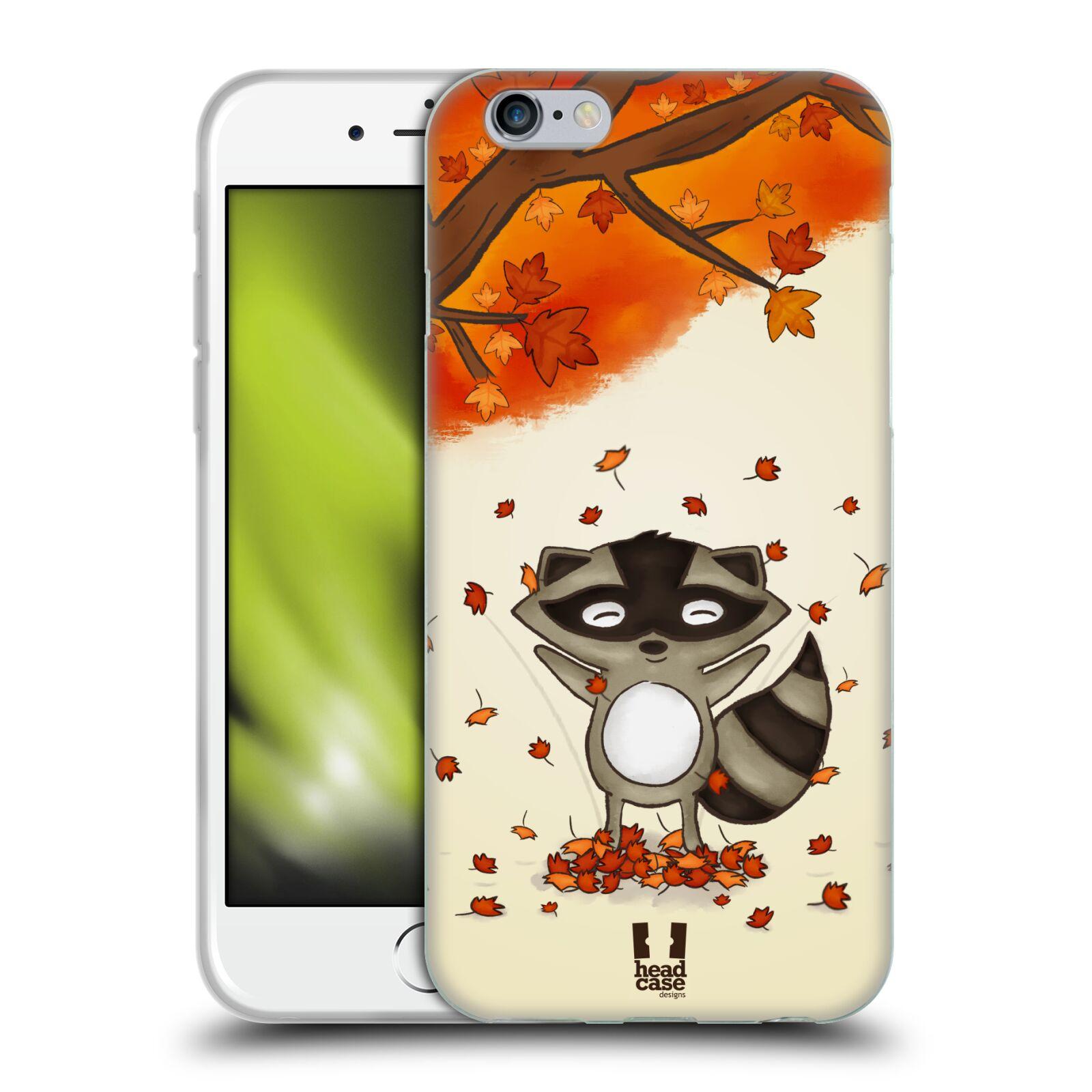 HEAD CASE silikonový obal na mobil Apple Iphone 6/6S vzor podzimní zvířátka mýval