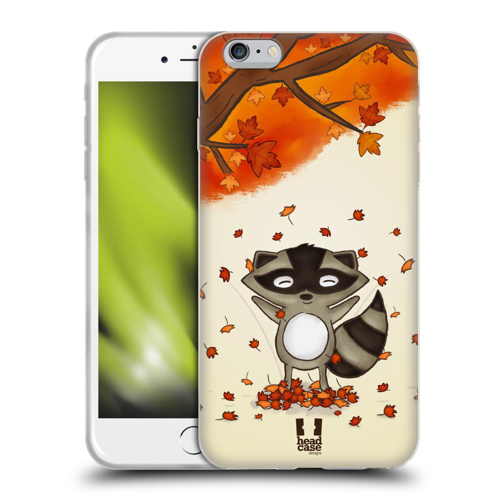 HEAD CASE silikonový obal na mobil Apple Iphone 6 PLUS/ 6S PLUS vzor podzimní zvířátka mýval