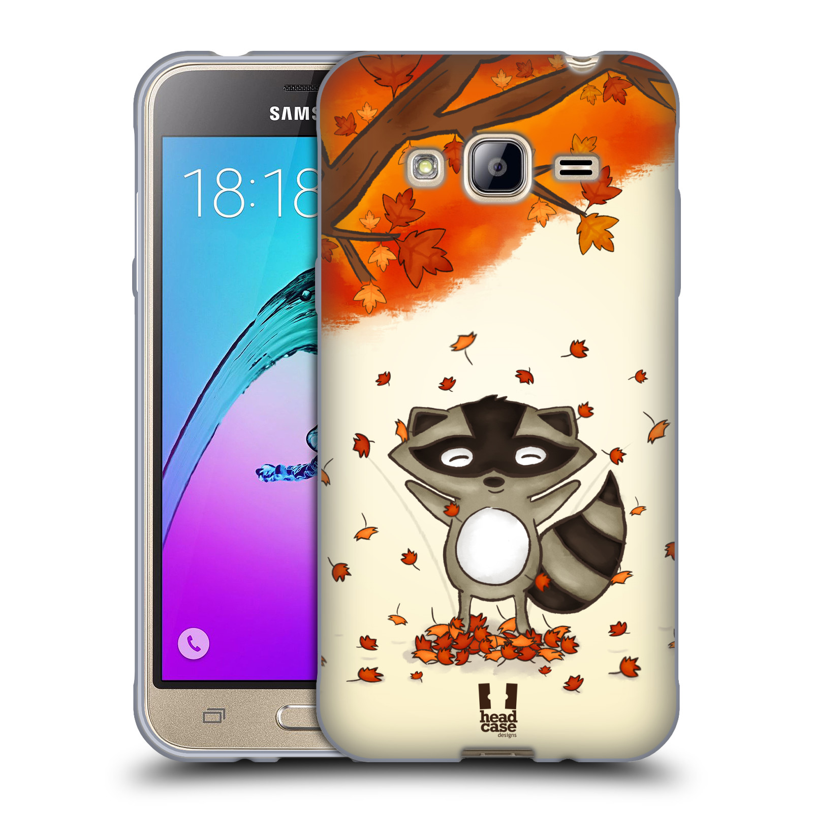 HEAD CASE silikonový obal na mobil Samsung Galaxy J3, J3 2016 vzor podzimní zvířátka mýval