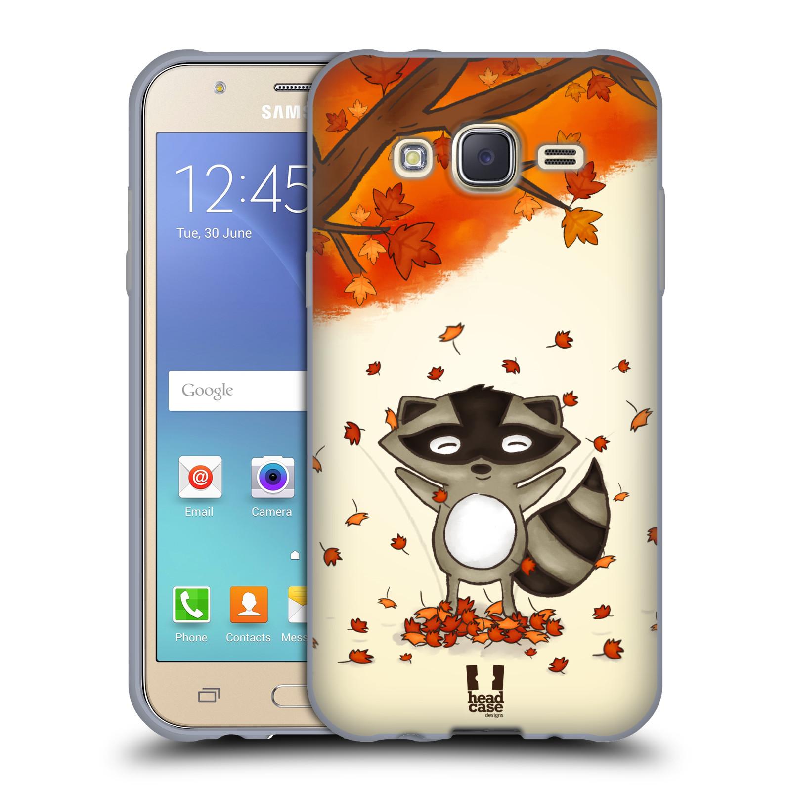 HEAD CASE silikonový obal na mobil Samsung Galaxy J5, J500, (J5 DUOS) vzor podzimní zvířátka mýval
