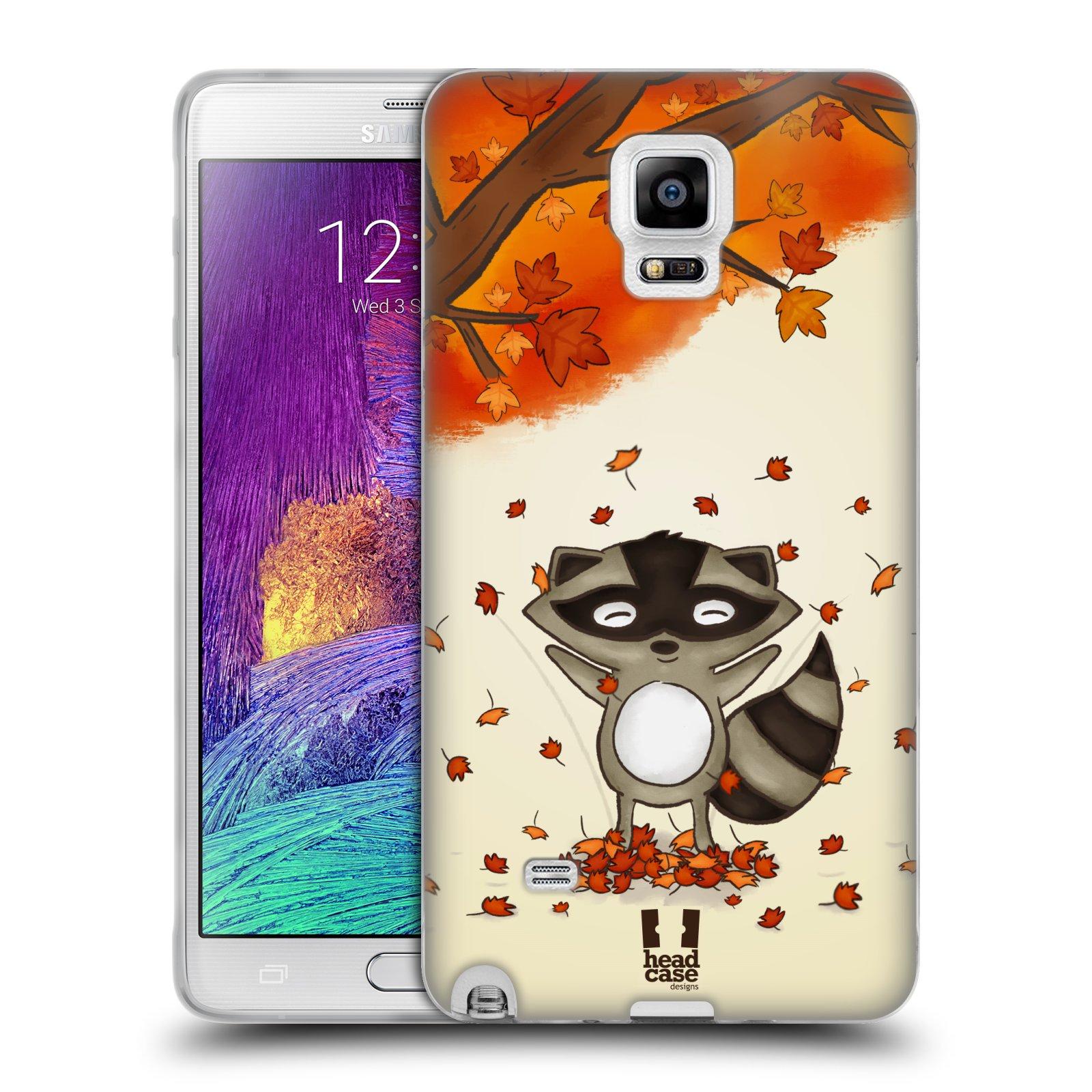 HEAD CASE silikonový obal na mobil Samsung Galaxy Note 4 (N910) vzor podzimní zvířátka mýval