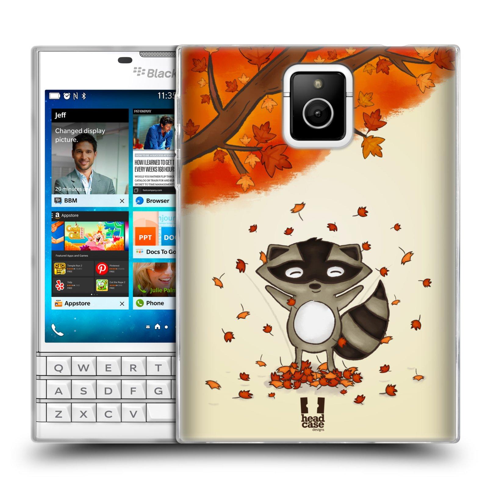 HEAD CASE silikonový obal na mobil Blackberry PASSPORT vzor podzimní zvířátka mýval