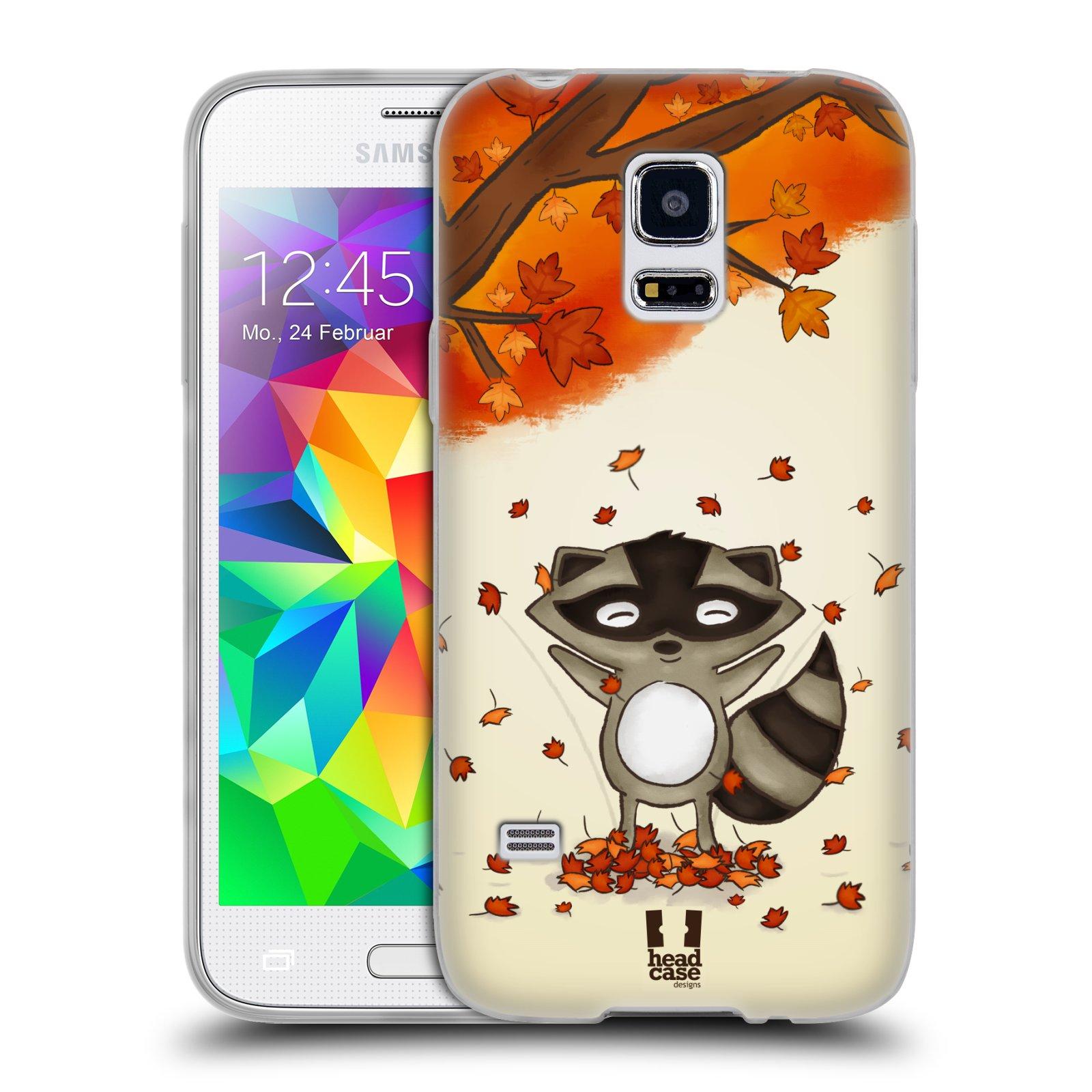 HEAD CASE silikonový obal na mobil Samsung Galaxy S5 MINI vzor podzimní zvířátka mýval
