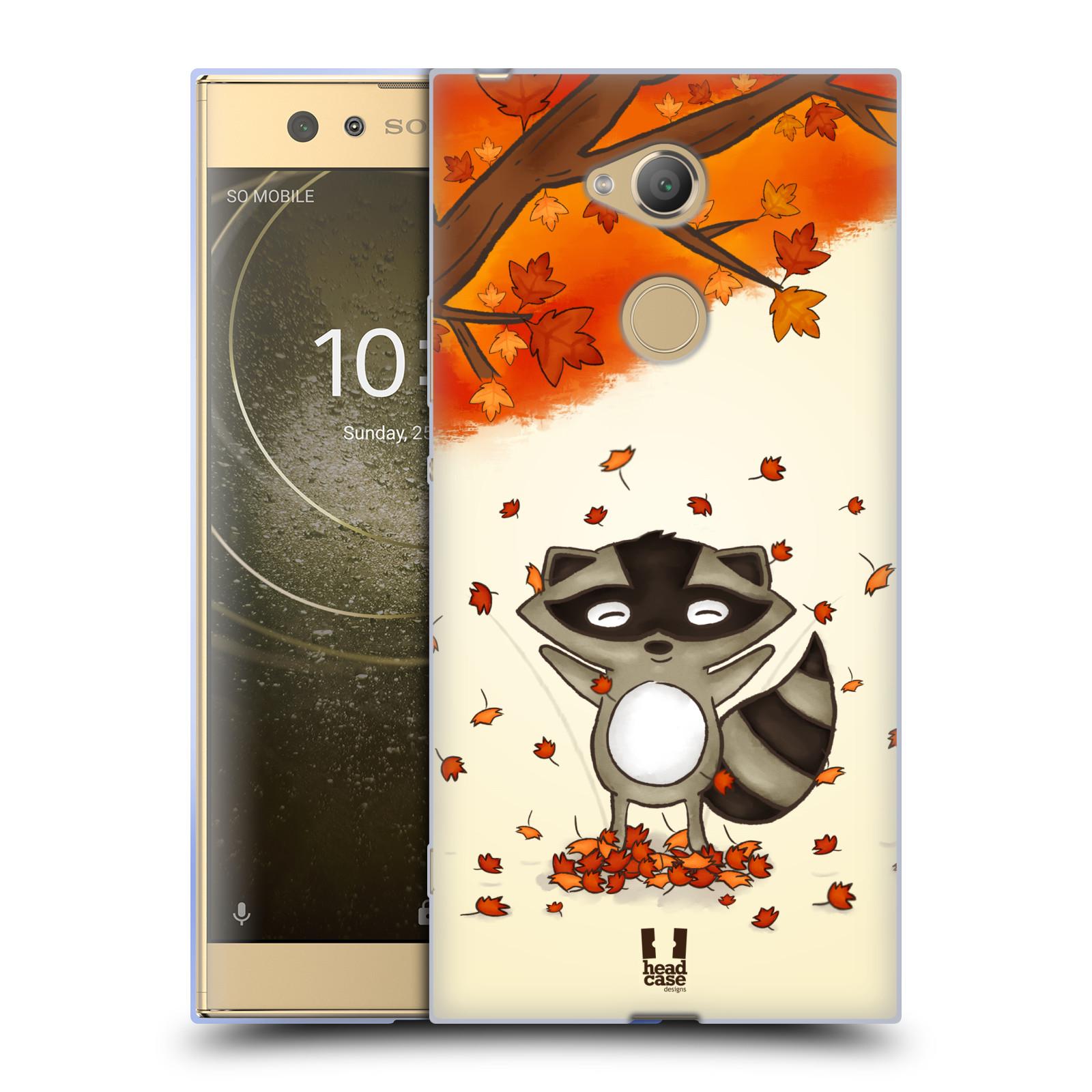 Pouzdro na mobil Sony Xperia XA2 Ultra vzor podzimní zvířátka mýval