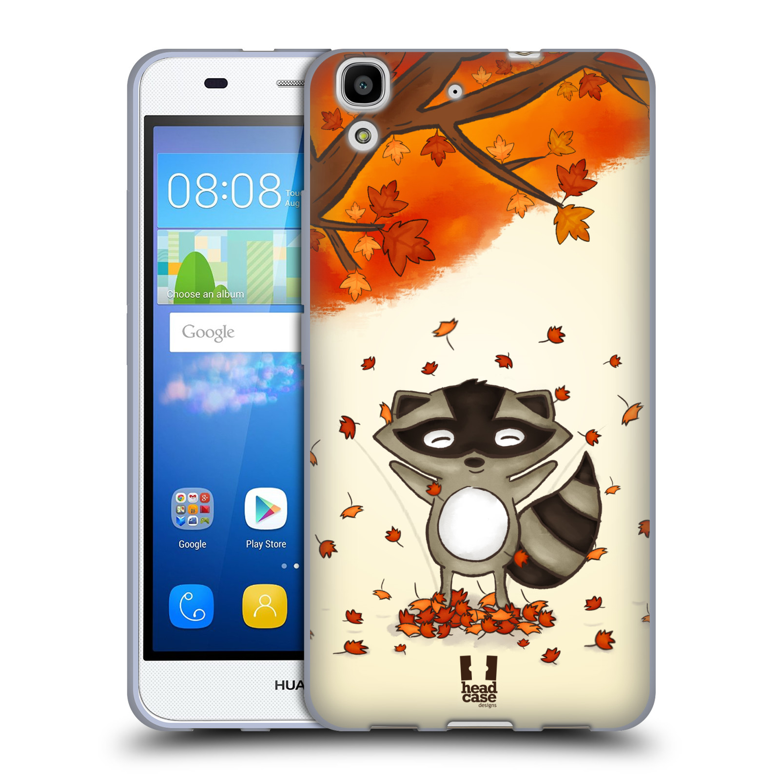 HEAD CASE silikonový obal na mobil HUAWEI Y6 vzor podzimní zvířátka mýval