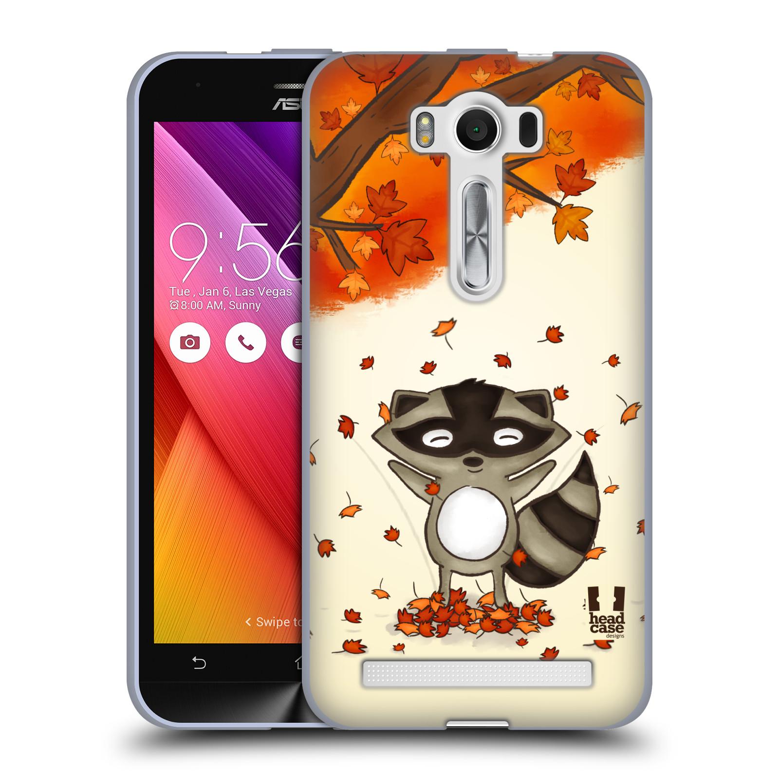 """HEAD CASE silikonový obal na mobil Asus Zenfone 2 LASER (ZE500KL s 5"""" displejem) vzor podzimní zvířátka mýval"""
