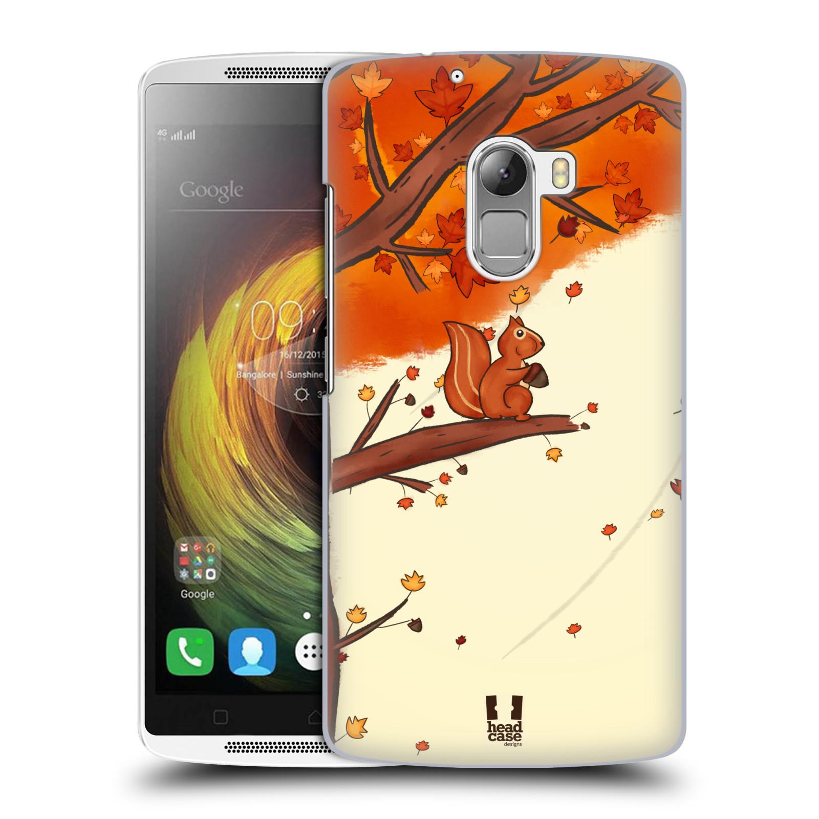 HEAD CASE pevný plastový obal na mobil LENOVO A7010 / A7010 DUAL / K4 Note / Vibe X3 lite vzor podzimní zvířátka veverka