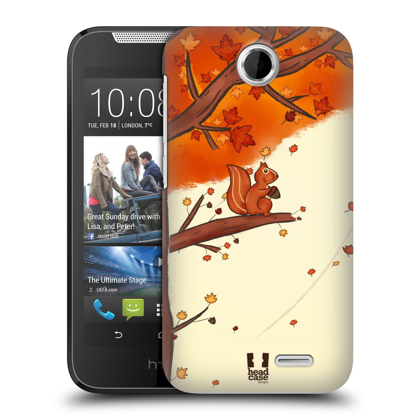 HEAD CASE plastový obal na mobil HTC Desire 310 vzor podzimní zvířátka veverka
