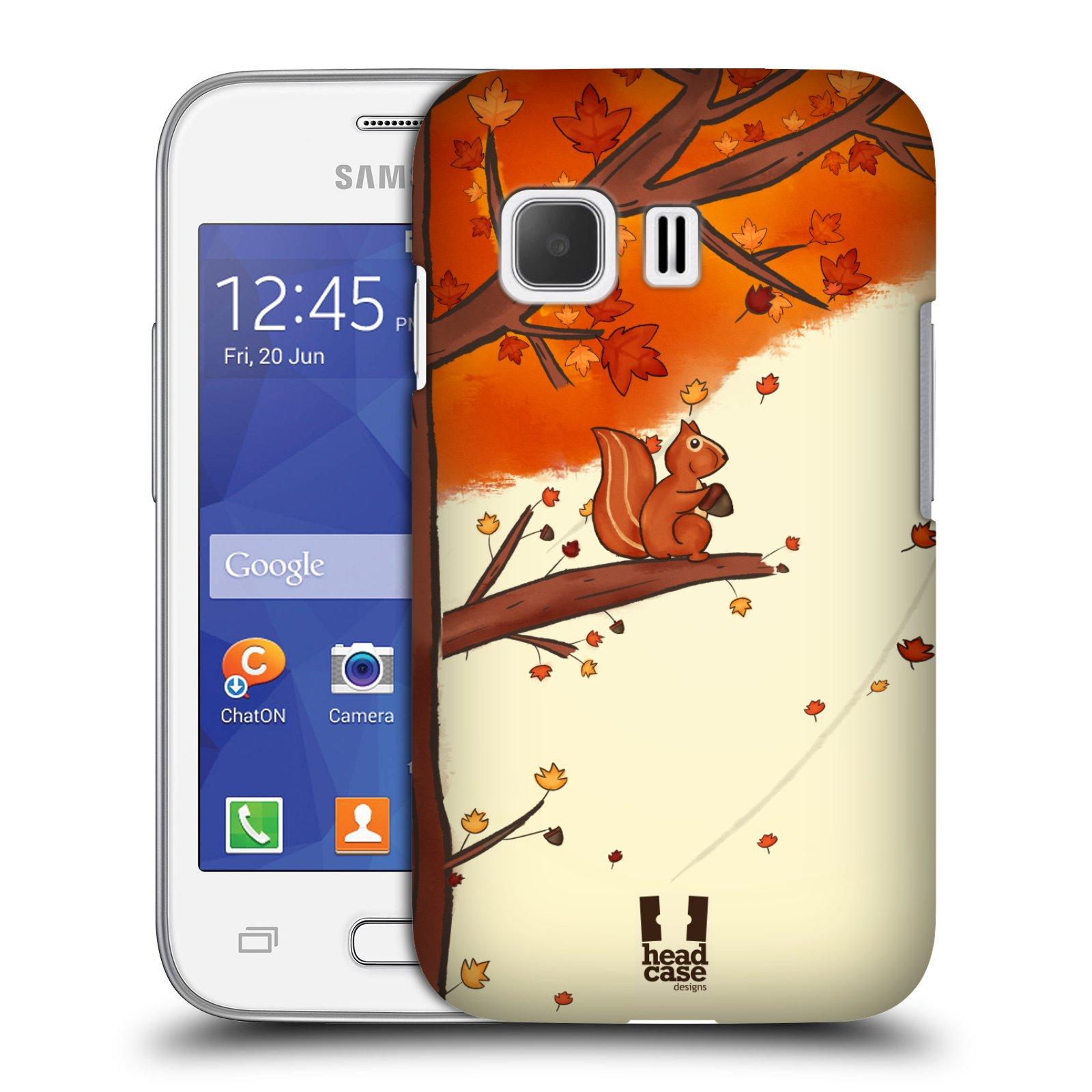 HEAD CASE plastový obal na mobil SAMSUNG Galaxy Young 2 (G130) vzor podzimní zvířátka veverka