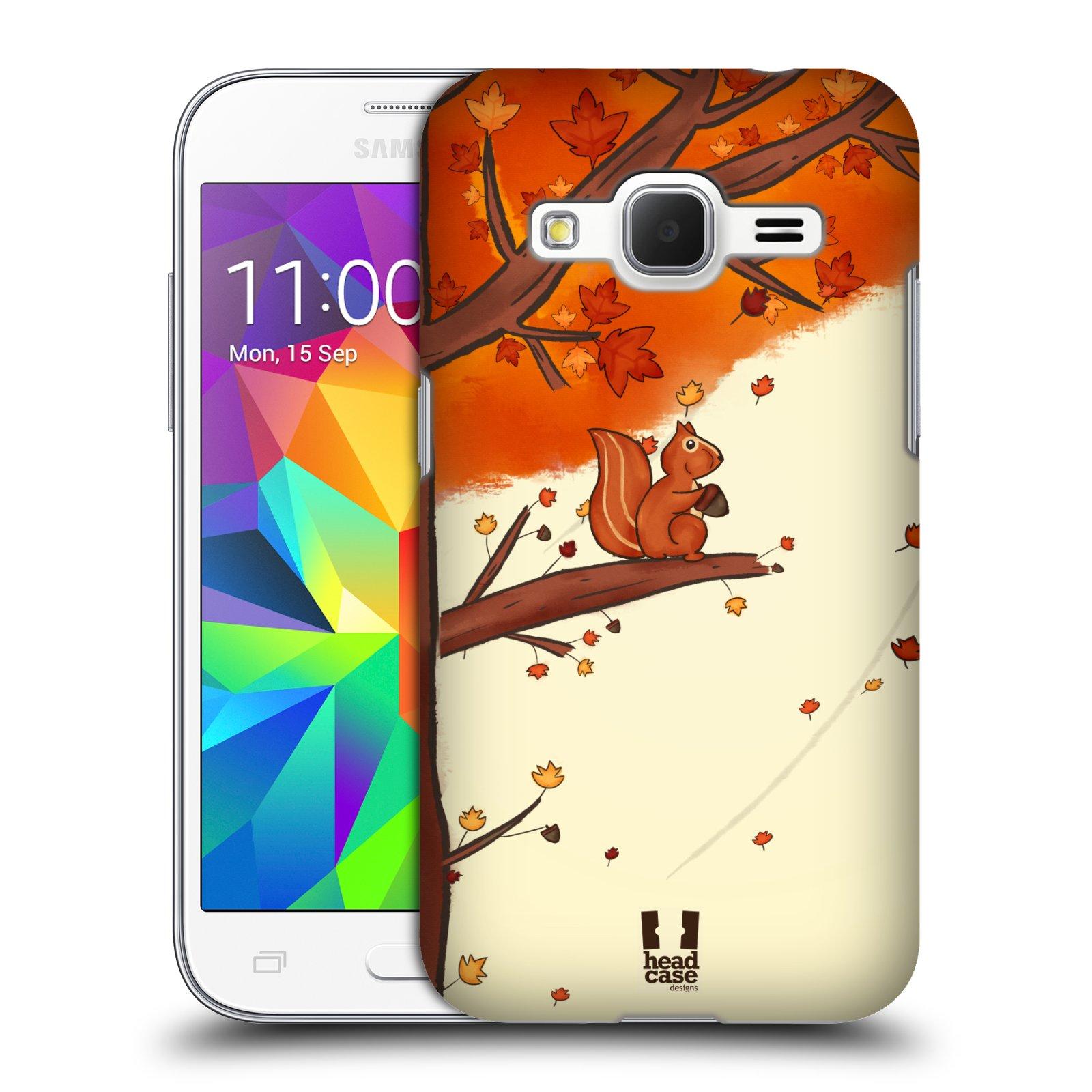 HEAD CASE plastový obal na mobil SAMSUNG GALAXY Core Prime (Core Prime VE) vzor podzimní zvířátka veverka