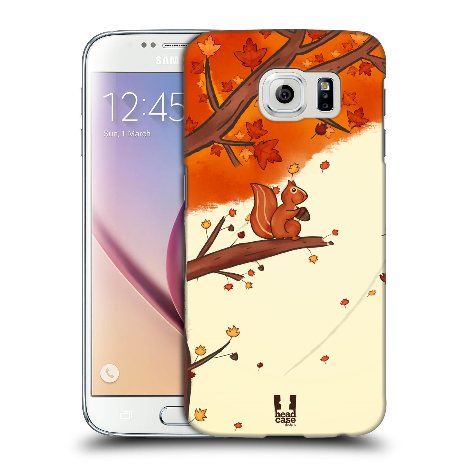 HEAD CASE plastový obal na mobil SAMSUNG Galaxy S6 (G9200, G920F) vzor podzimní zvířátka veverka