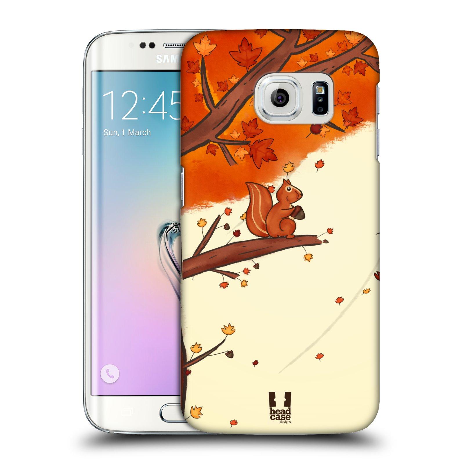 HEAD CASE plastový obal na mobil SAMSUNG Galaxy S6 EDGE (G9250, G925, G925F) vzor podzimní zvířátka veverka