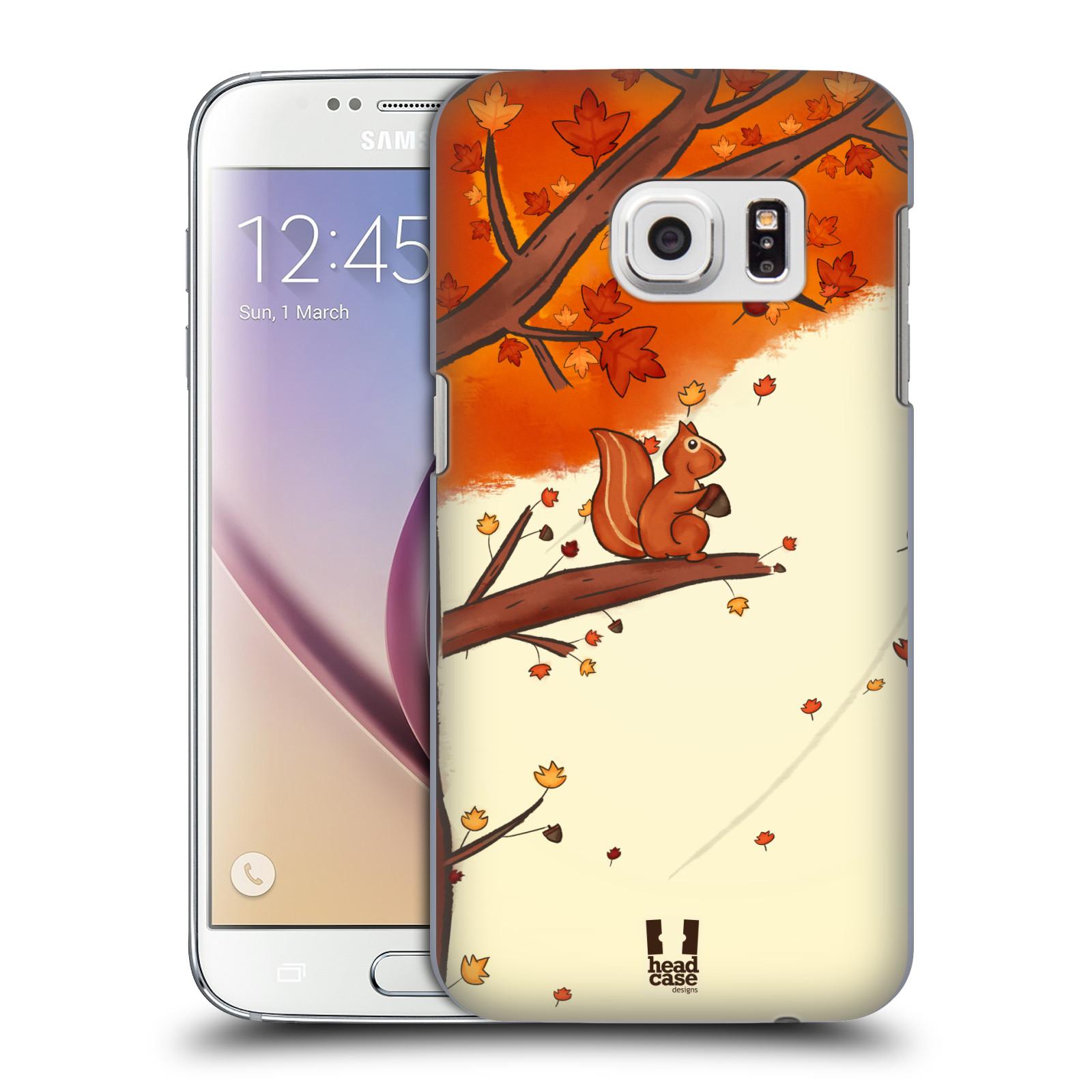 HEAD CASE plastový obal na mobil SAMSUNG GALAXY S7 vzor podzimní zvířátka veverka