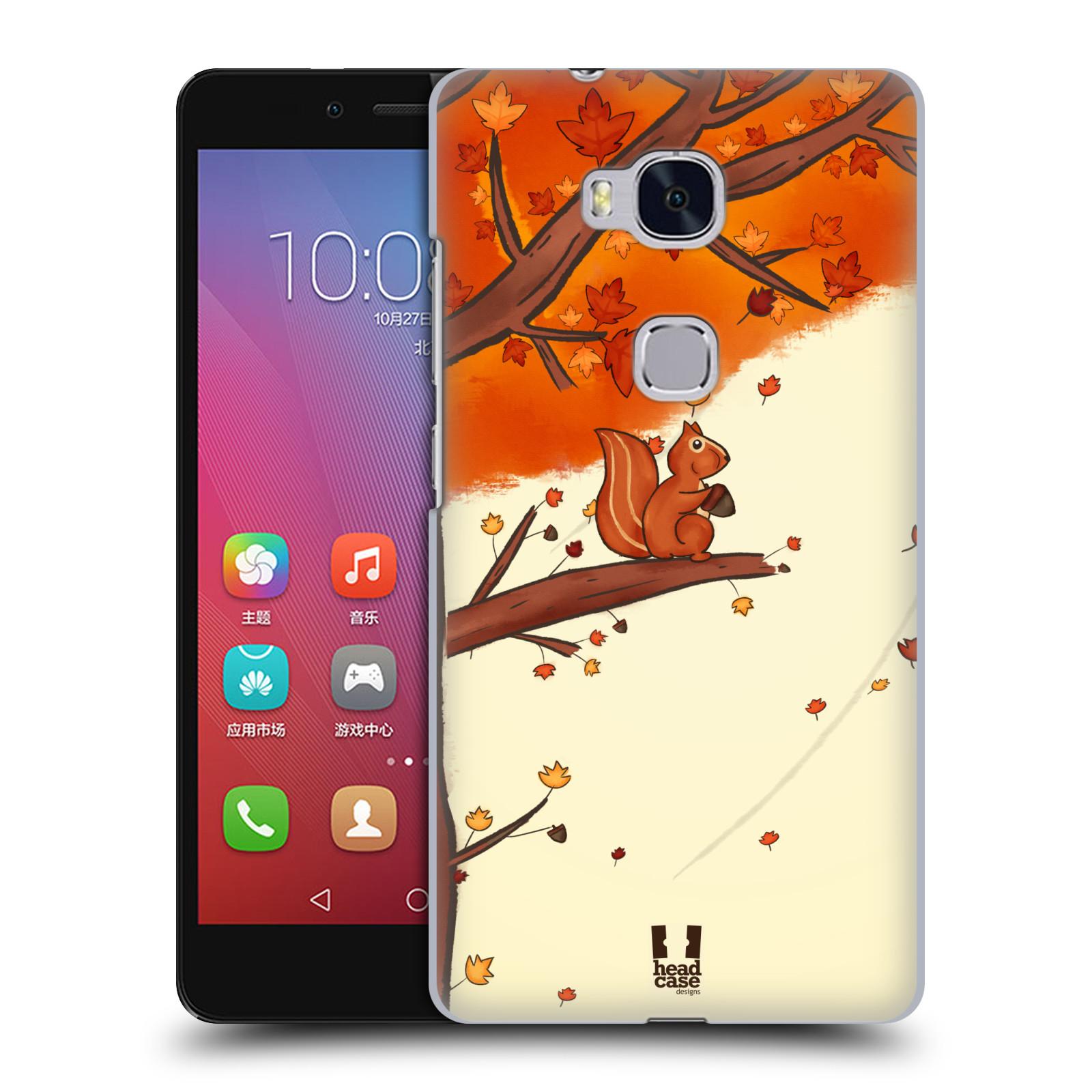 HEAD CASE pevný plastový obal na mobil HUAWEI HONOR 5X vzor podzimní zvířátka veverka