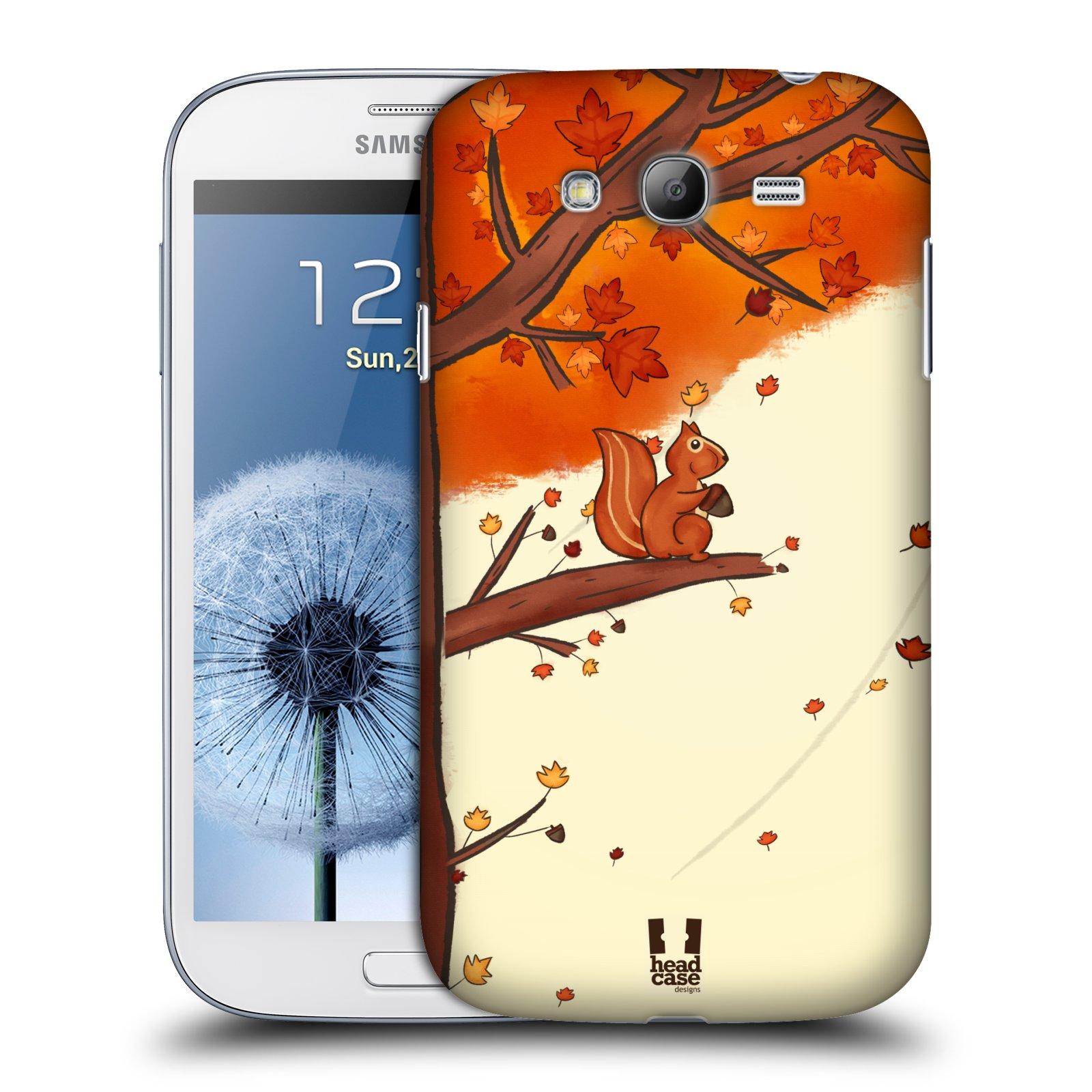 HEAD CASE plastový obal na mobil SAMSUNG GALAXY Grand i9080 vzor podzimní zvířátka veverka