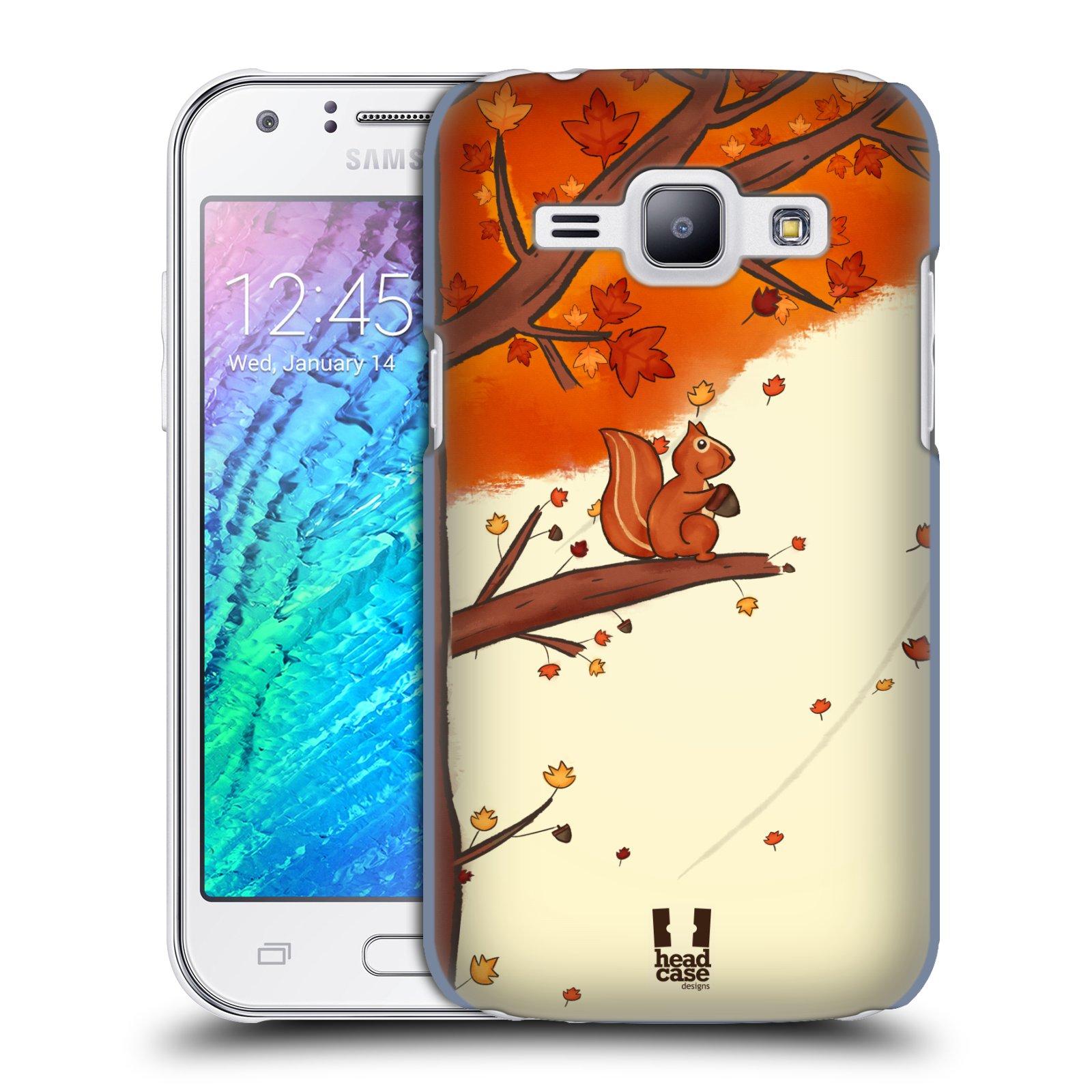 HEAD CASE plastový obal na mobil SAMSUNG Galaxy J1, J100 vzor podzimní zvířátka veverka