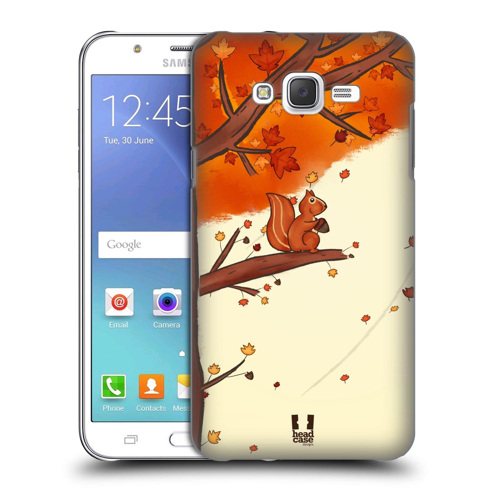 HEAD CASE plastový obal na mobil SAMSUNG Galaxy J7, J700 vzor podzimní zvířátka veverka