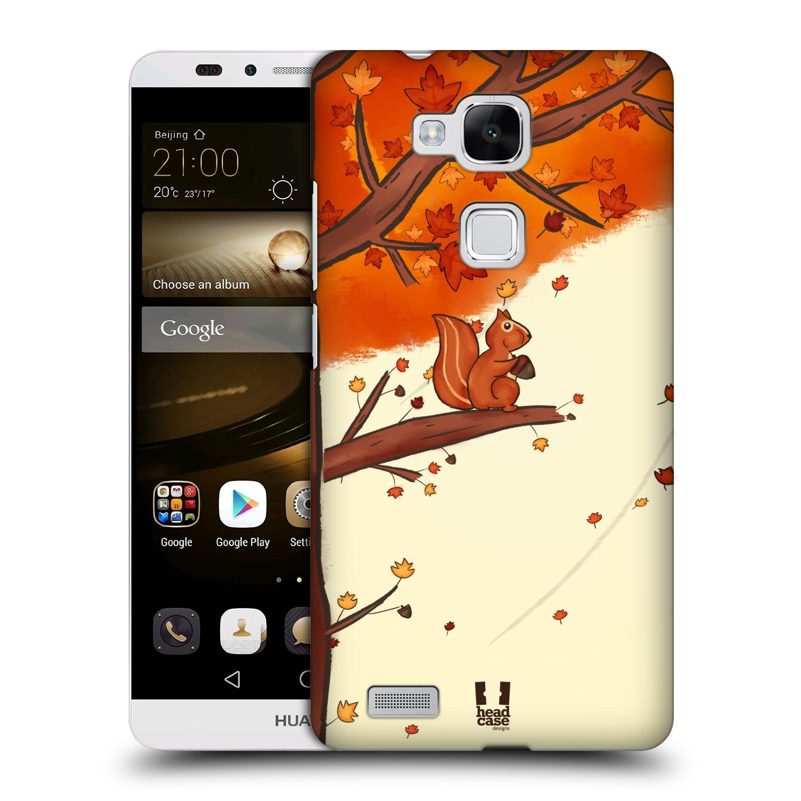 HEAD CASE plastový obal na mobil Huawei Mate 7 vzor podzimní zvířátka veverka
