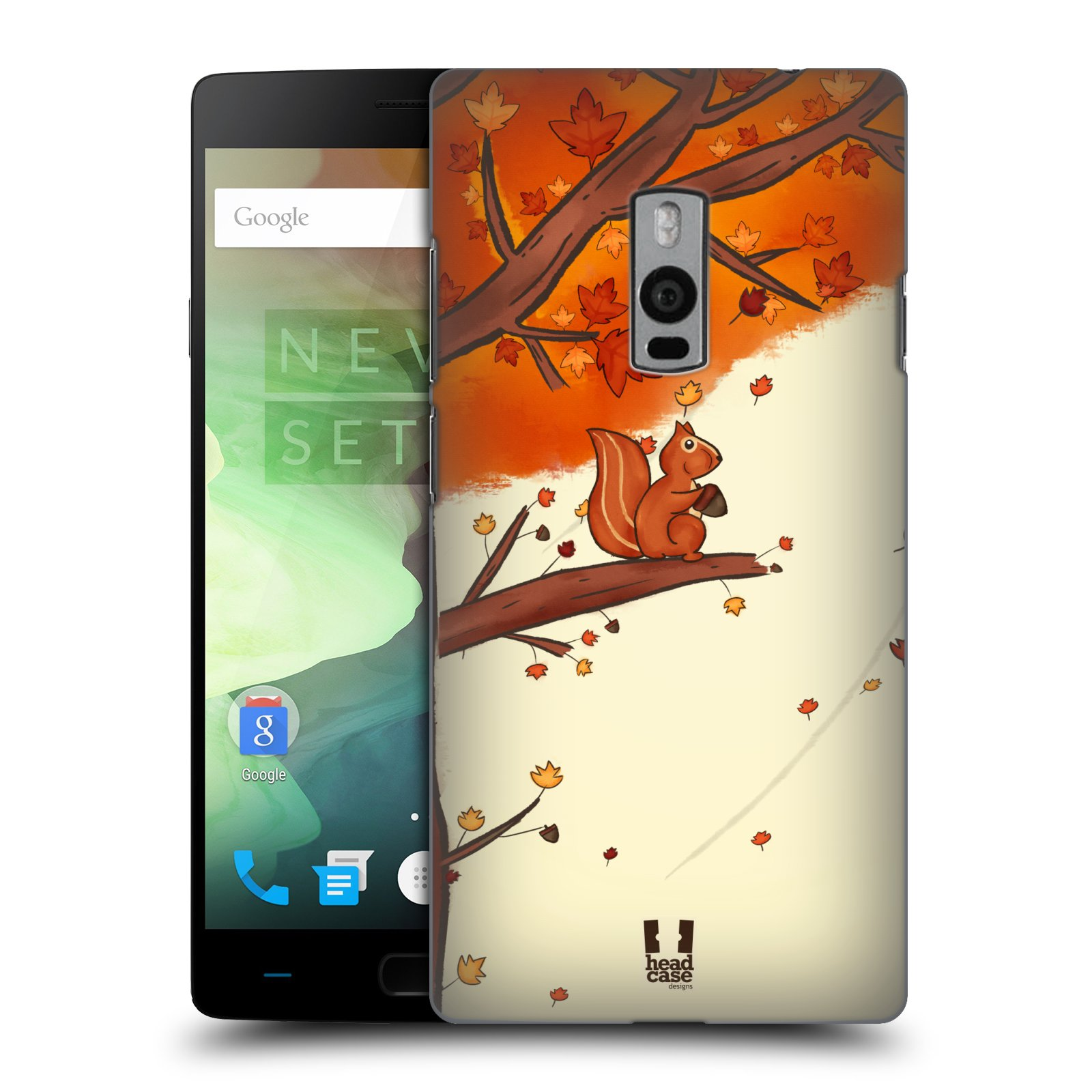 HEAD CASE pevný plastový obal na mobil OnePlus 2  ( TWO ) vzor podzimní zvířátka veverka