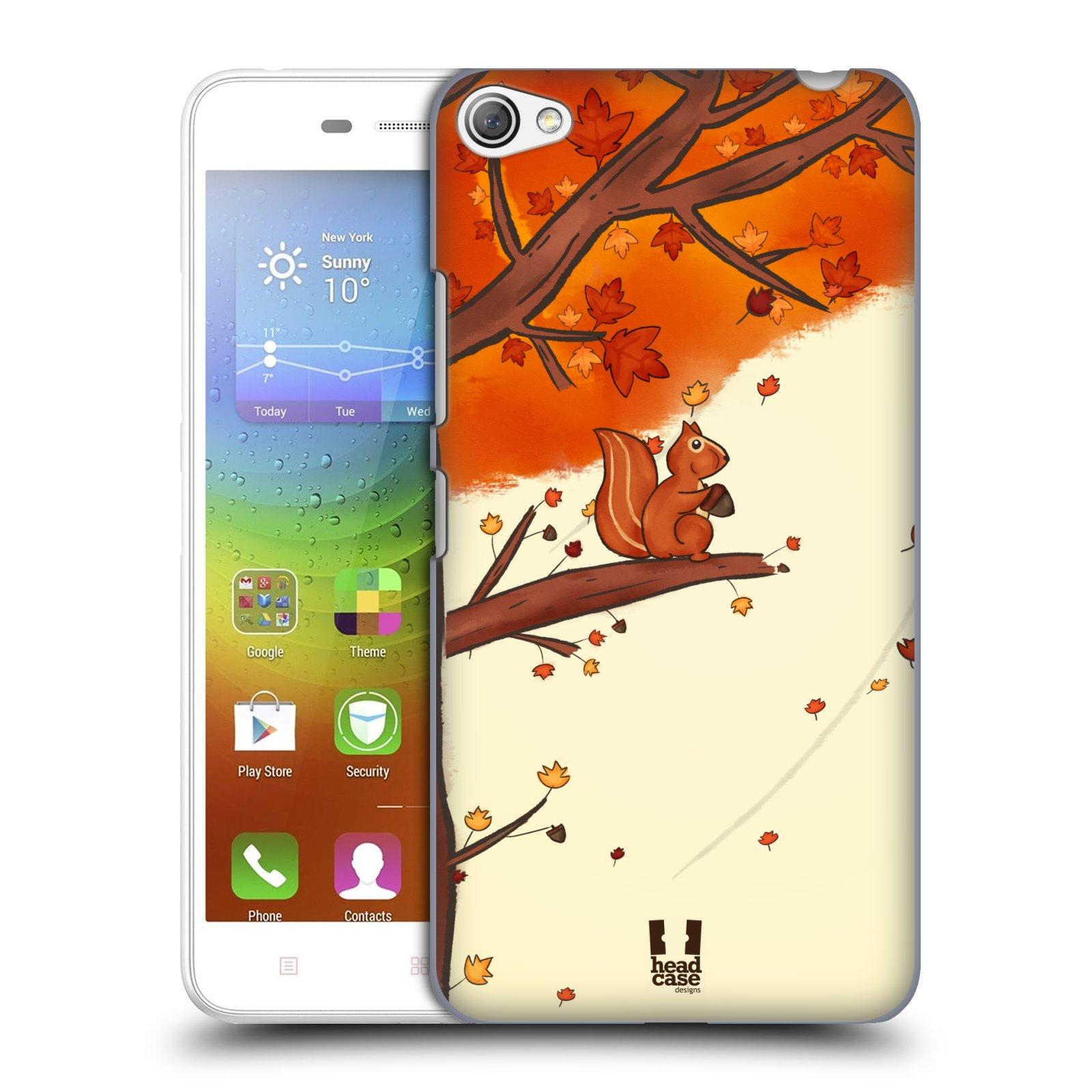 HEAD CASE pevný plastový obal na mobil LENOVO S60 / LENOVO S60 DUAL SIM vzor podzimní zvířátka veverka