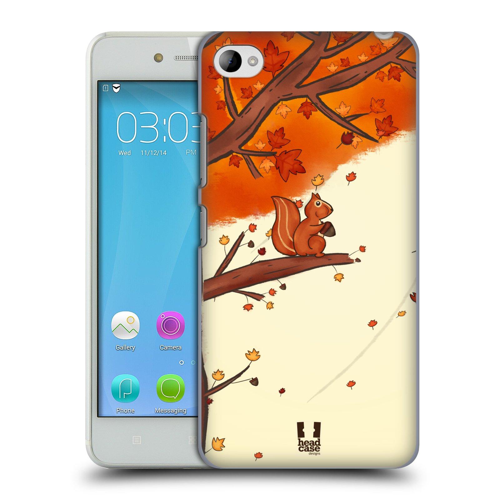 HEAD CASE pevný plastový obal na mobil LENOVO S90 vzor podzimní zvířátka veverka