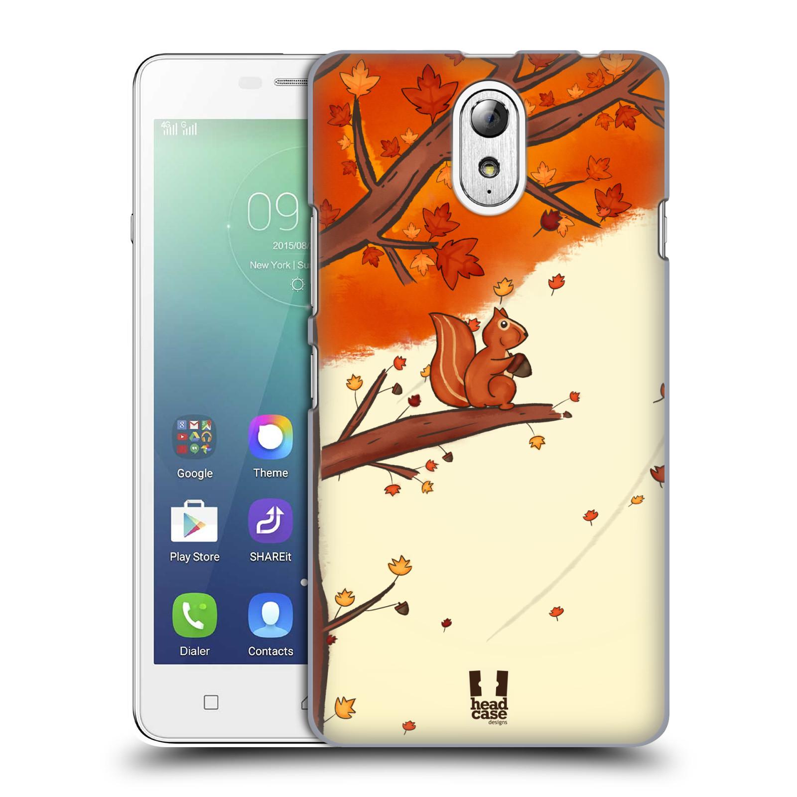 HEAD CASE pevný plastový obal na mobil LENOVO VIBE P1m / LENOVO VIBE p1m DUAL SIM vzor podzimní zvířátka veverka