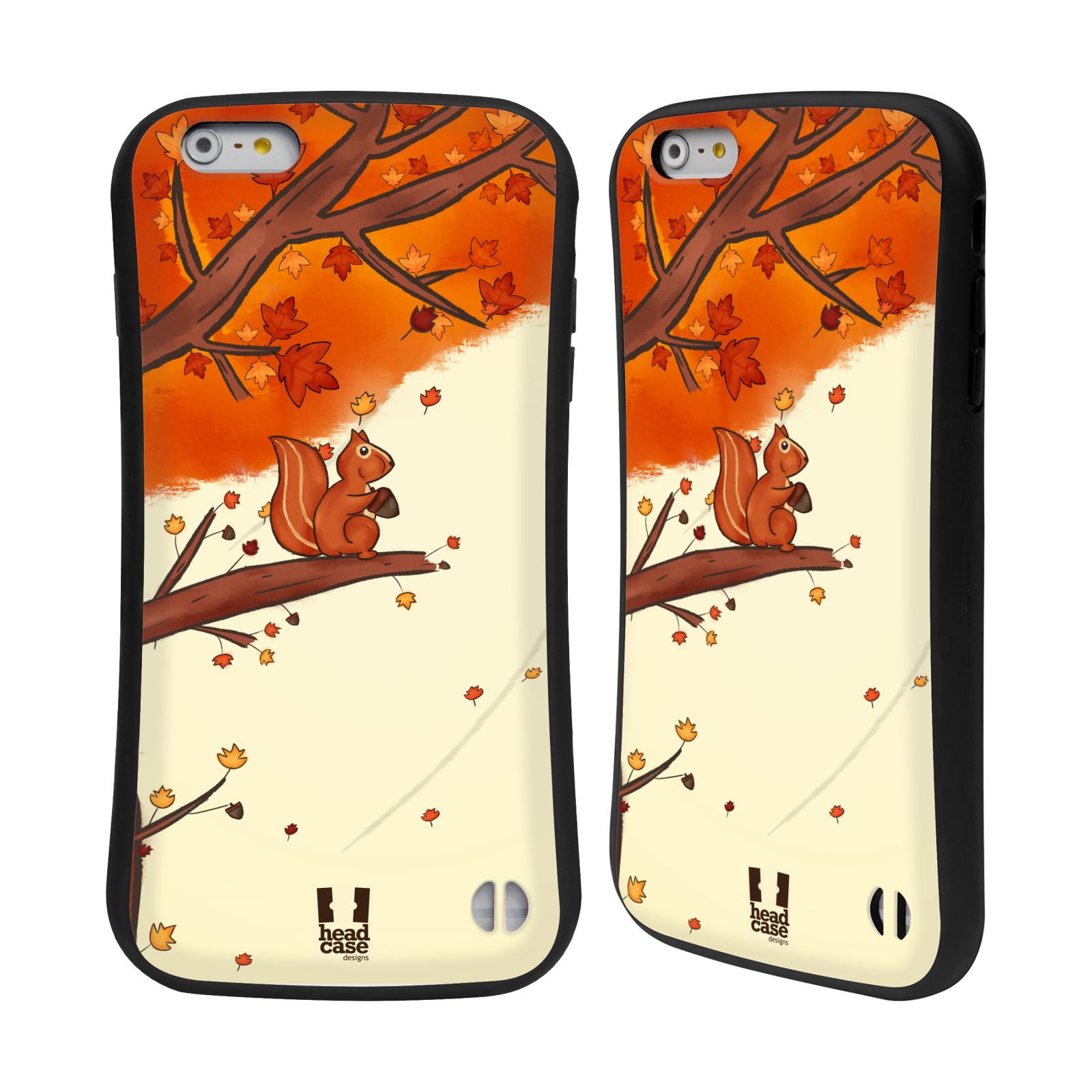 HEAD CASE silikon/plast odolný obal na mobil Apple Iphone 6 PLUS / 6S PLUS vzor podzimní zvířátka veverka