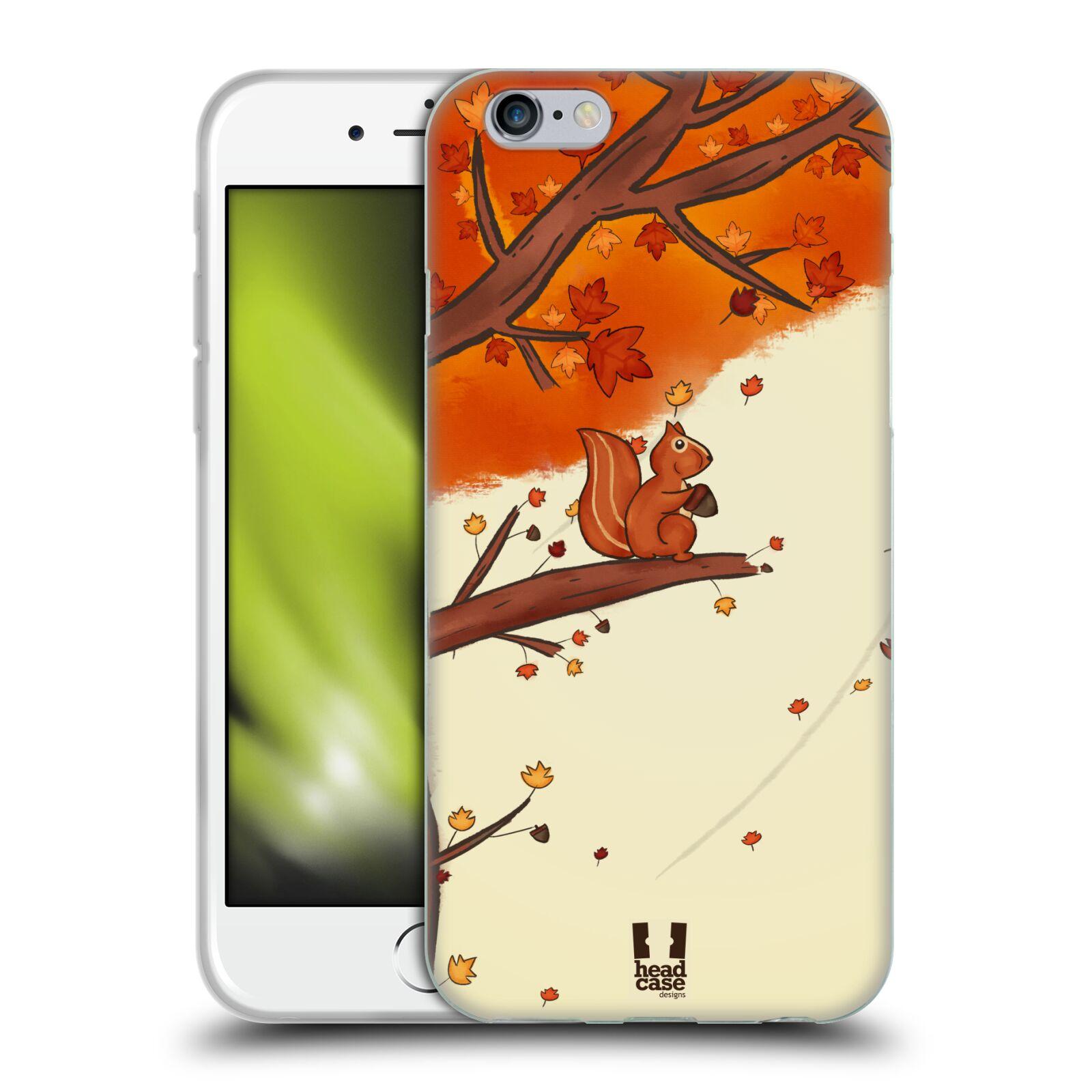 HEAD CASE silikonový obal na mobil Apple Iphone 6/6S vzor podzimní zvířátka veverka