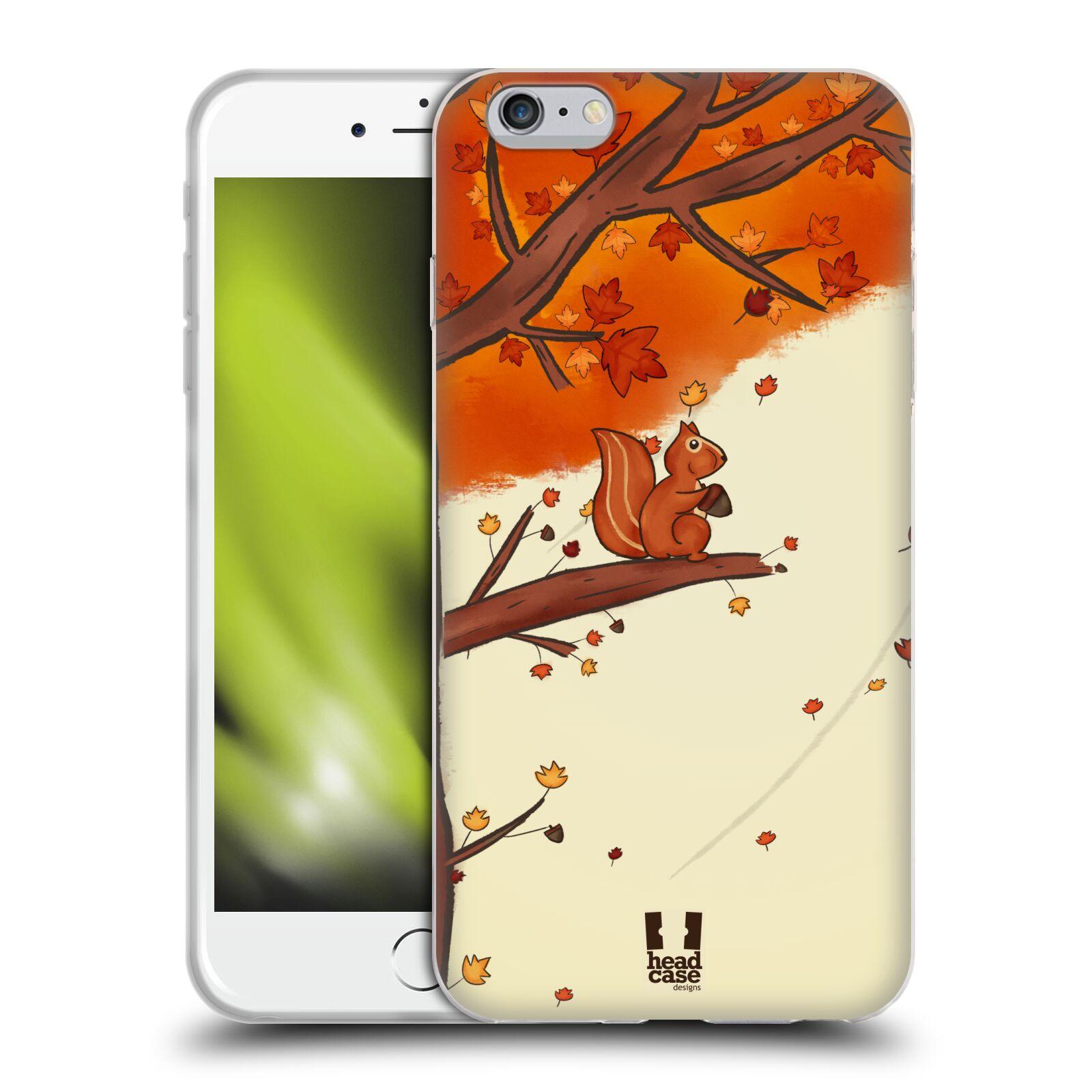 HEAD CASE silikonový obal na mobil Apple Iphone 6 PLUS/ 6S PLUS vzor podzimní zvířátka veverka