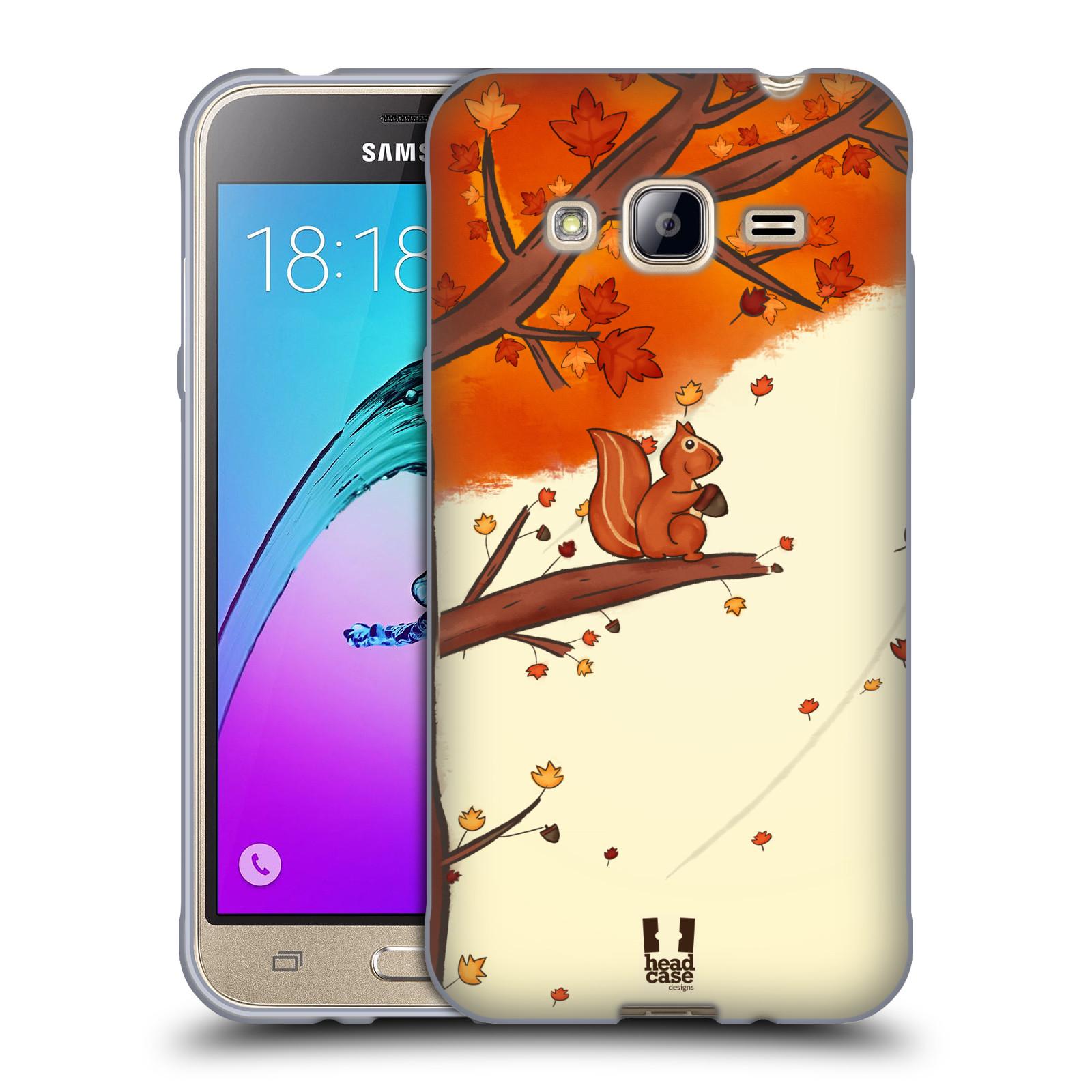 HEAD CASE silikonový obal na mobil Samsung Galaxy J3, J3 2016 vzor podzimní zvířátka veverka