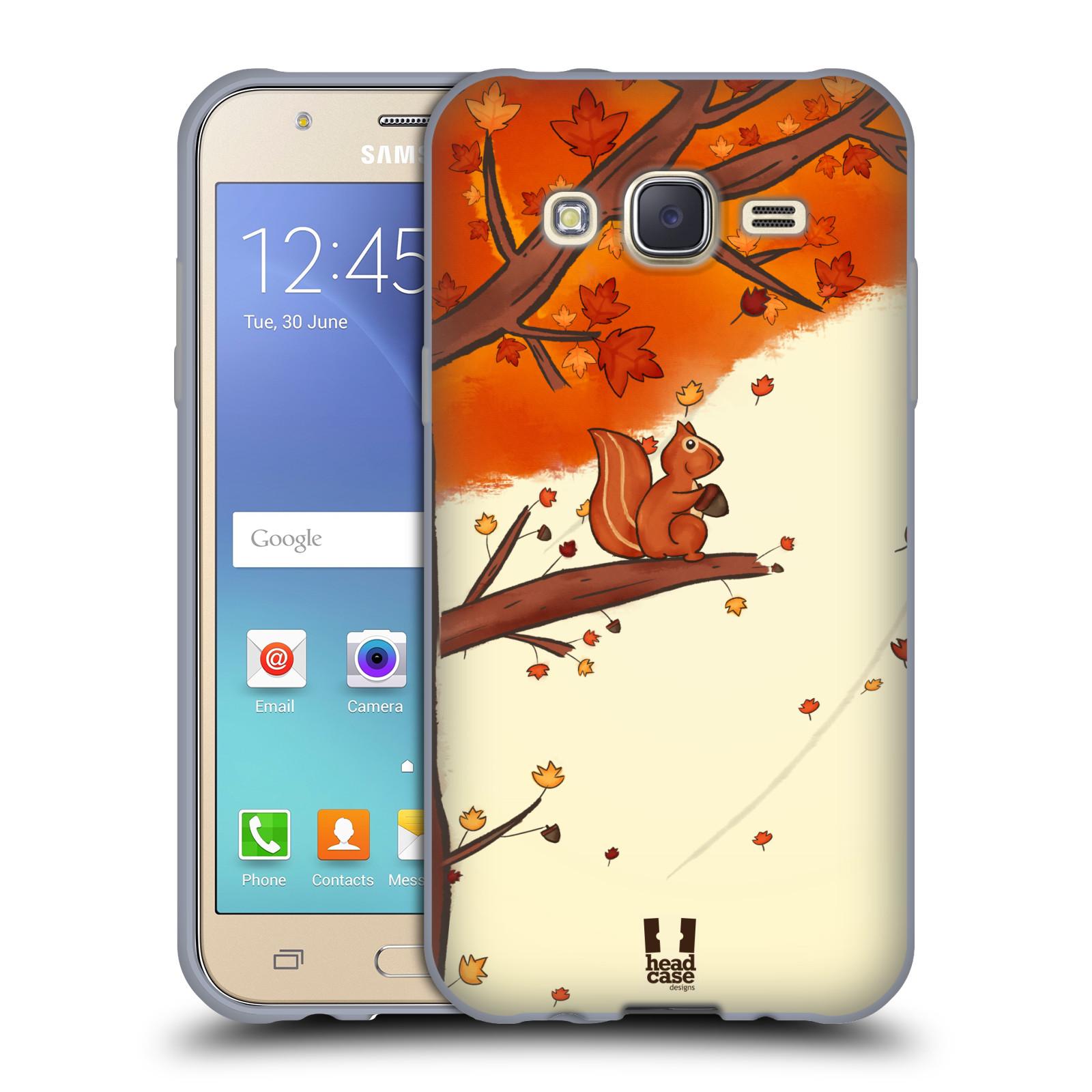 HEAD CASE silikonový obal na mobil Samsung Galaxy J5, J500, (J5 DUOS) vzor podzimní zvířátka veverka