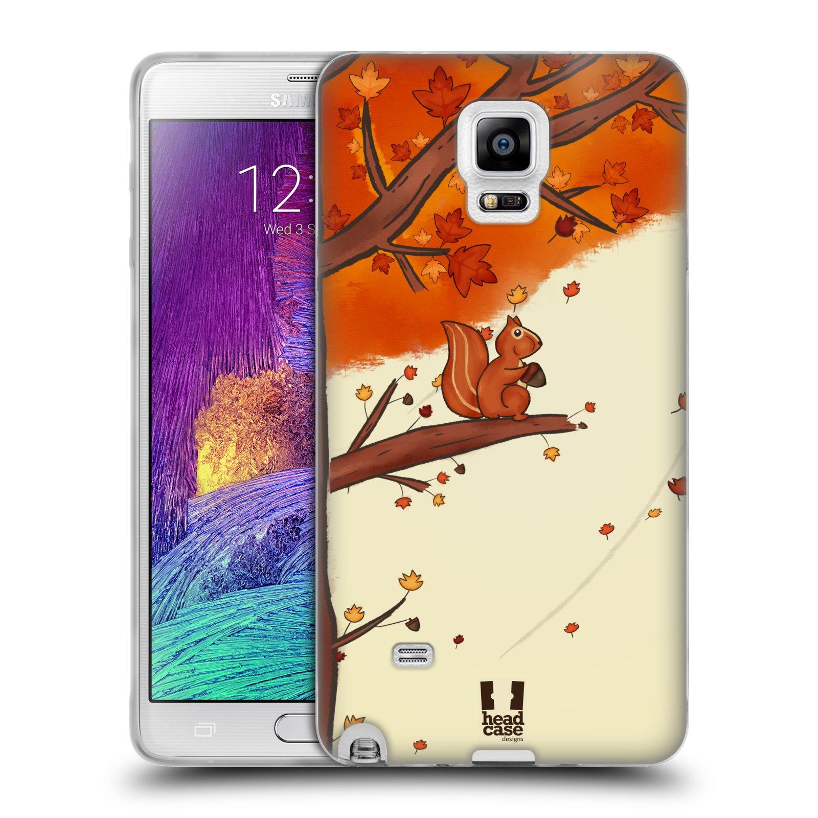HEAD CASE silikonový obal na mobil Samsung Galaxy Note 4 (N910) vzor podzimní zvířátka veverka