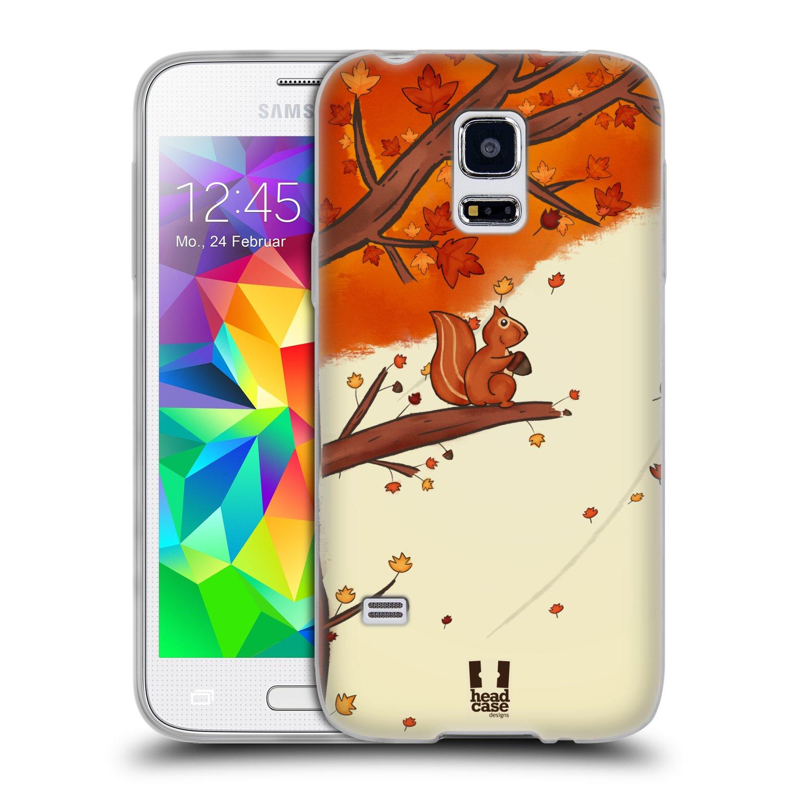 HEAD CASE silikonový obal na mobil Samsung Galaxy S5 MINI vzor podzimní zvířátka veverka