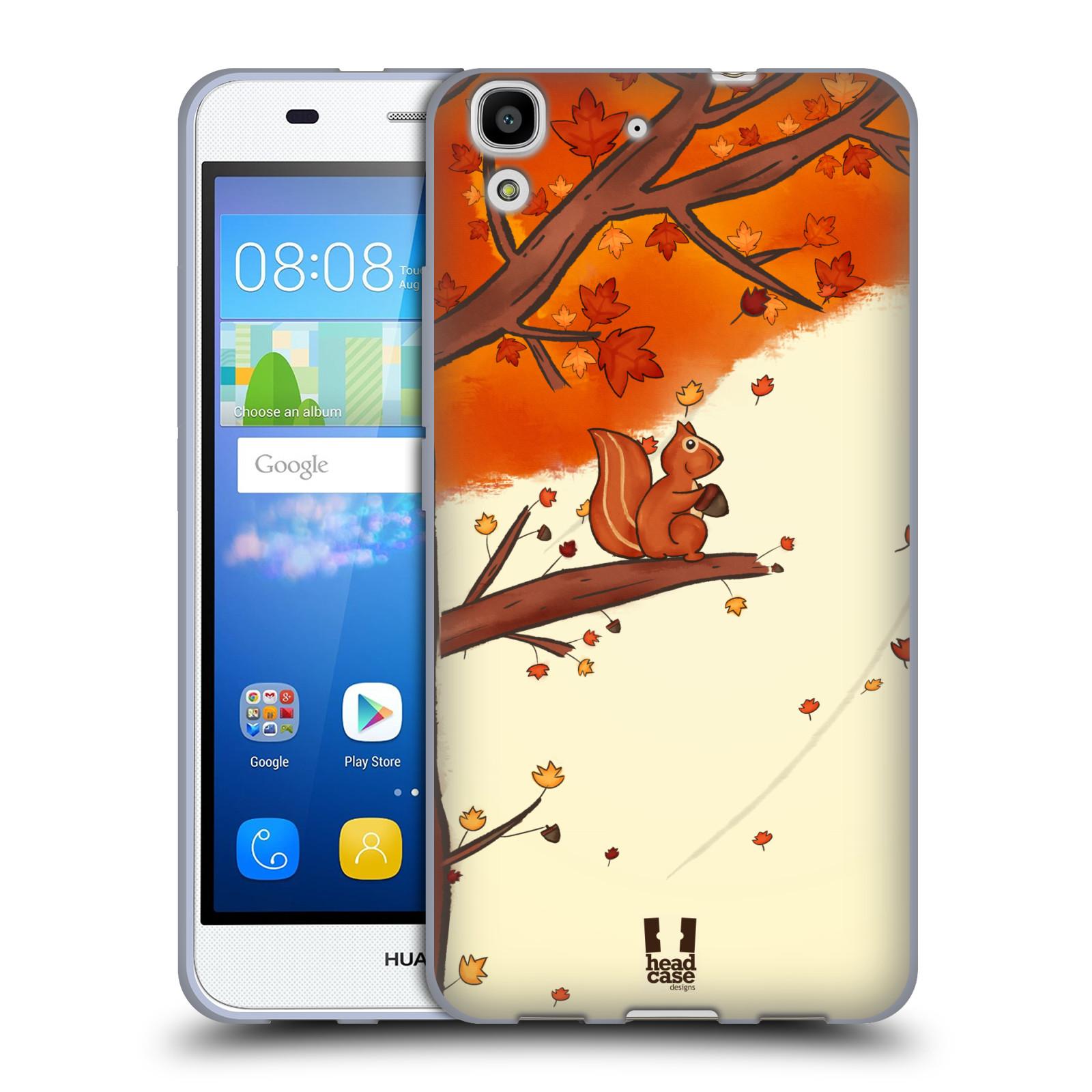 HEAD CASE silikonový obal na mobil HUAWEI Y6 vzor podzimní zvířátka veverka
