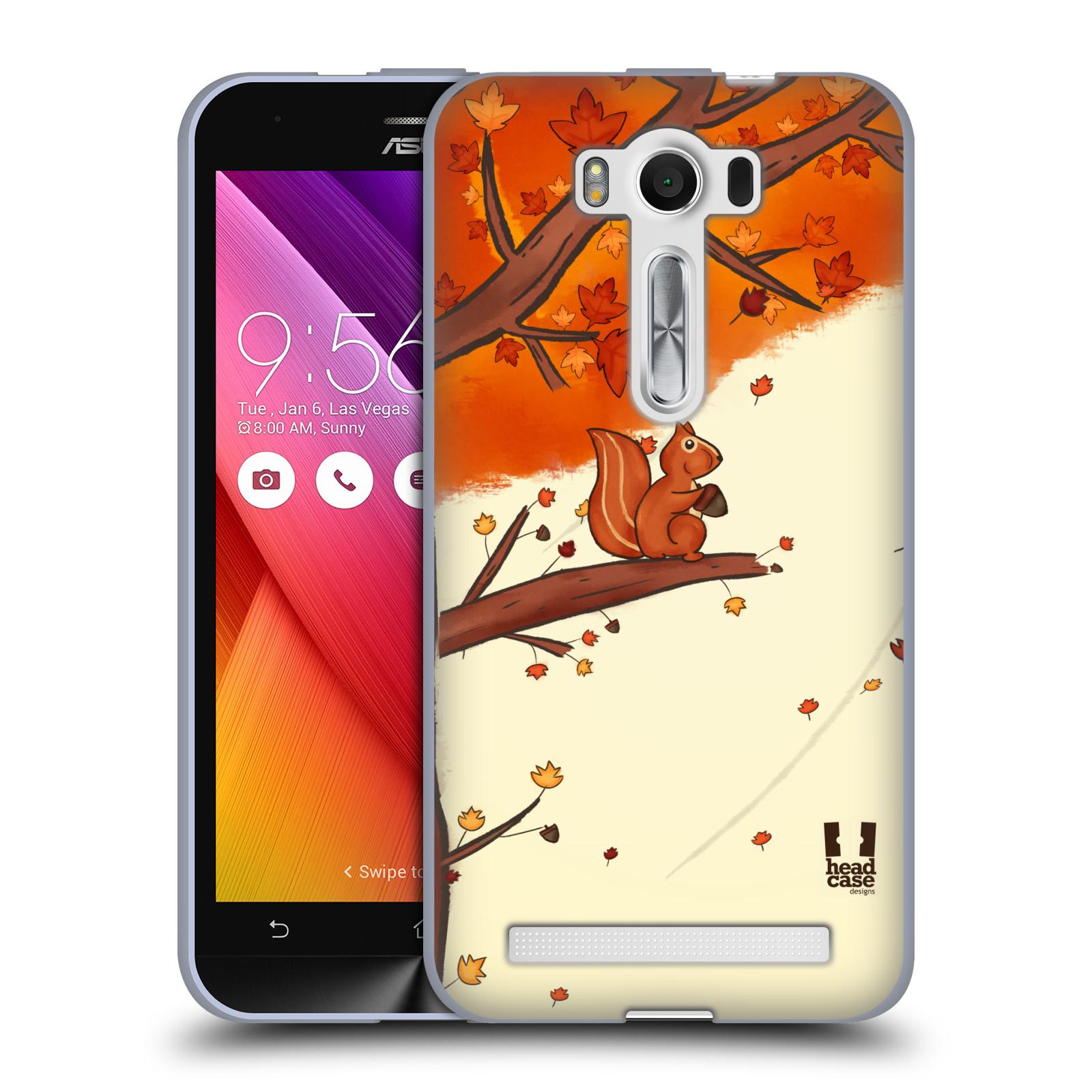 """HEAD CASE silikonový obal na mobil Asus Zenfone 2 LASER (ZE500KL s 5"""" displejem) vzor podzimní zvířátka veverka"""