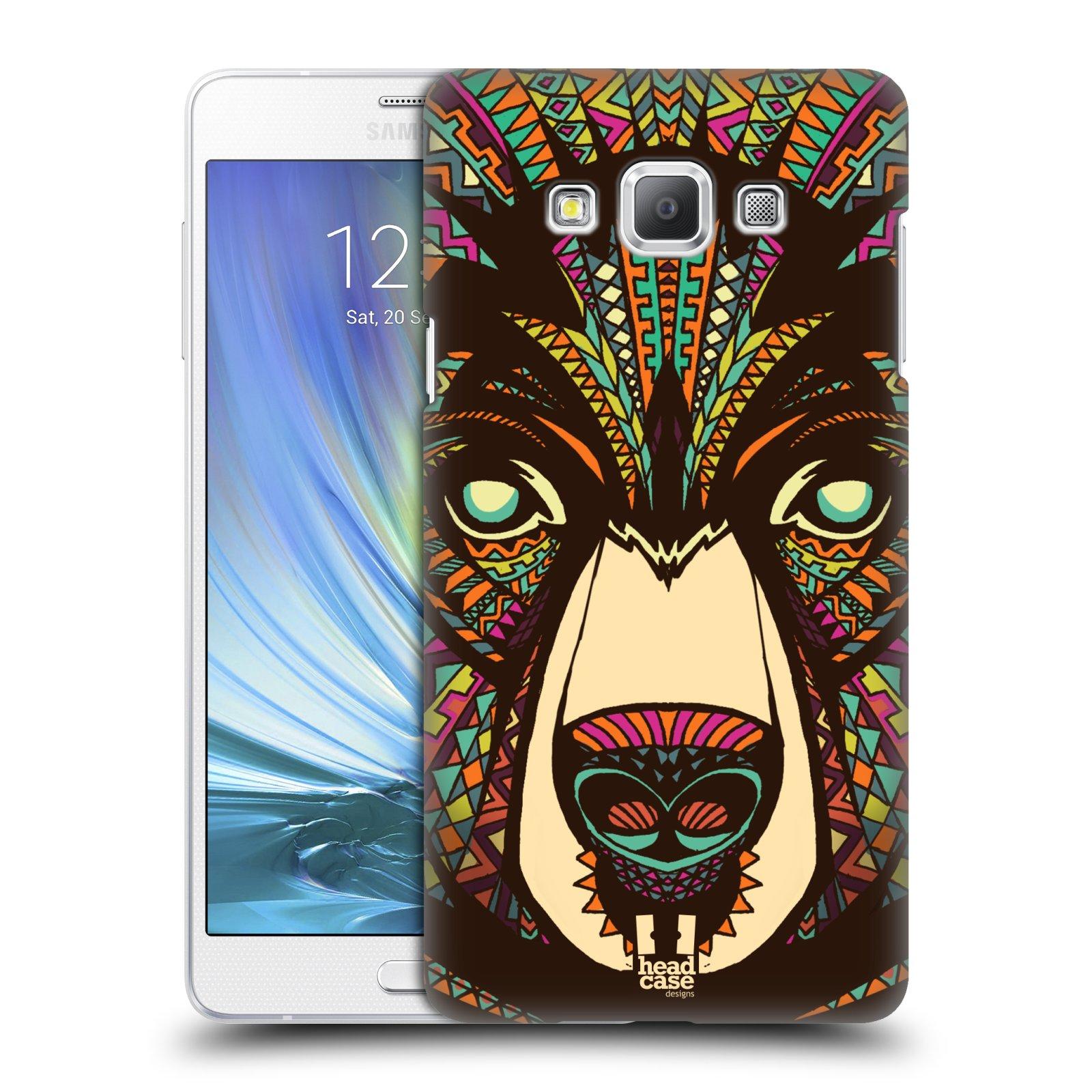 HEAD CASE plastový obal na mobil SAMSUNG GALAXY A7 vzor Aztécký motiv zvíře medvěd