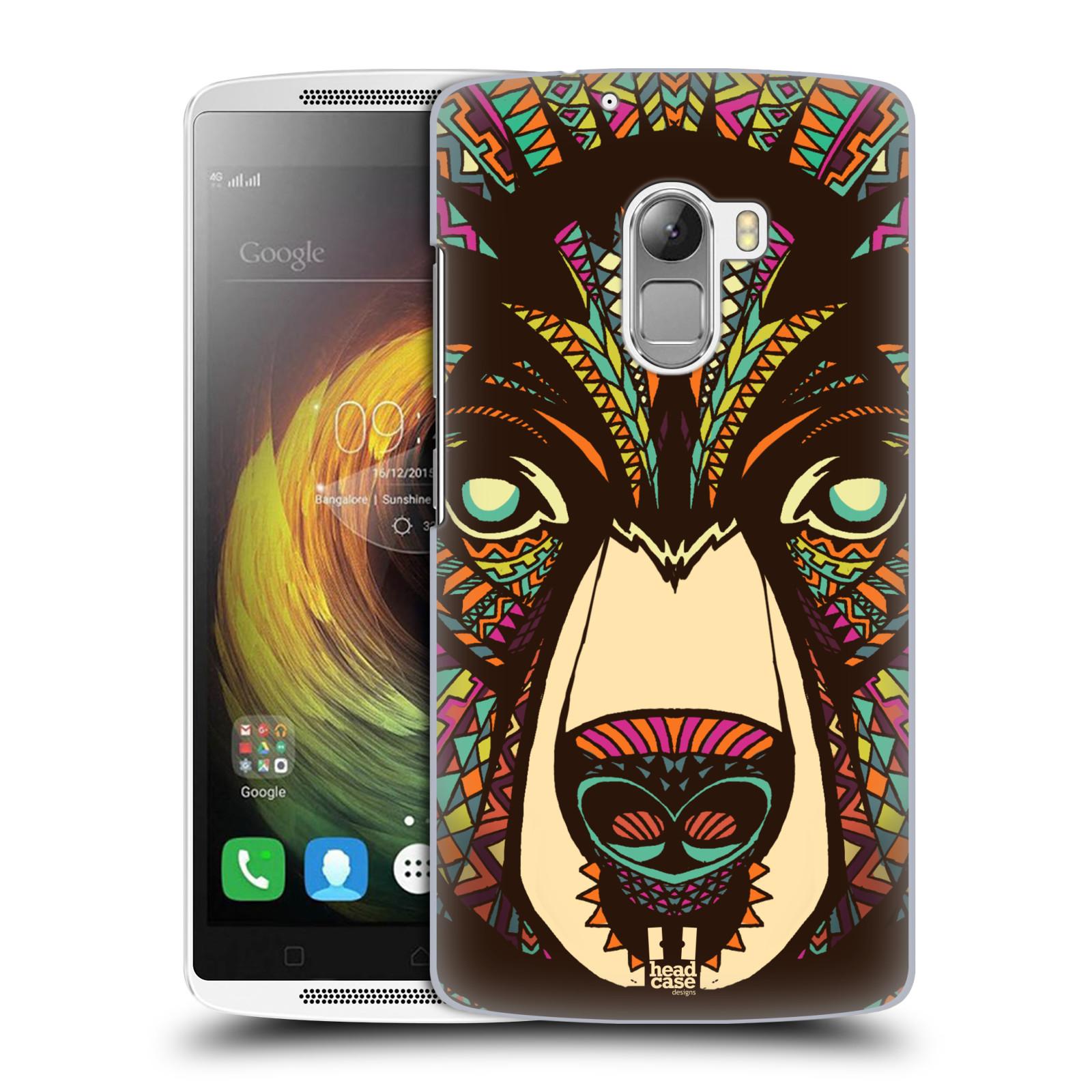 HEAD CASE pevný plastový obal na mobil LENOVO A7010 / A7010 DUAL / K4 Note / Vibe X3 lite vzor Aztécký motiv zvíře medvěd