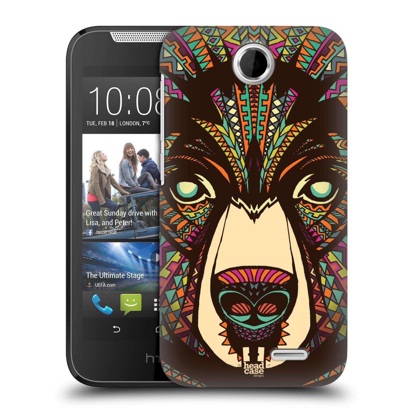 HEAD CASE plastový obal na mobil HTC Desire 310 vzor Aztécký motiv zvíře medvěd