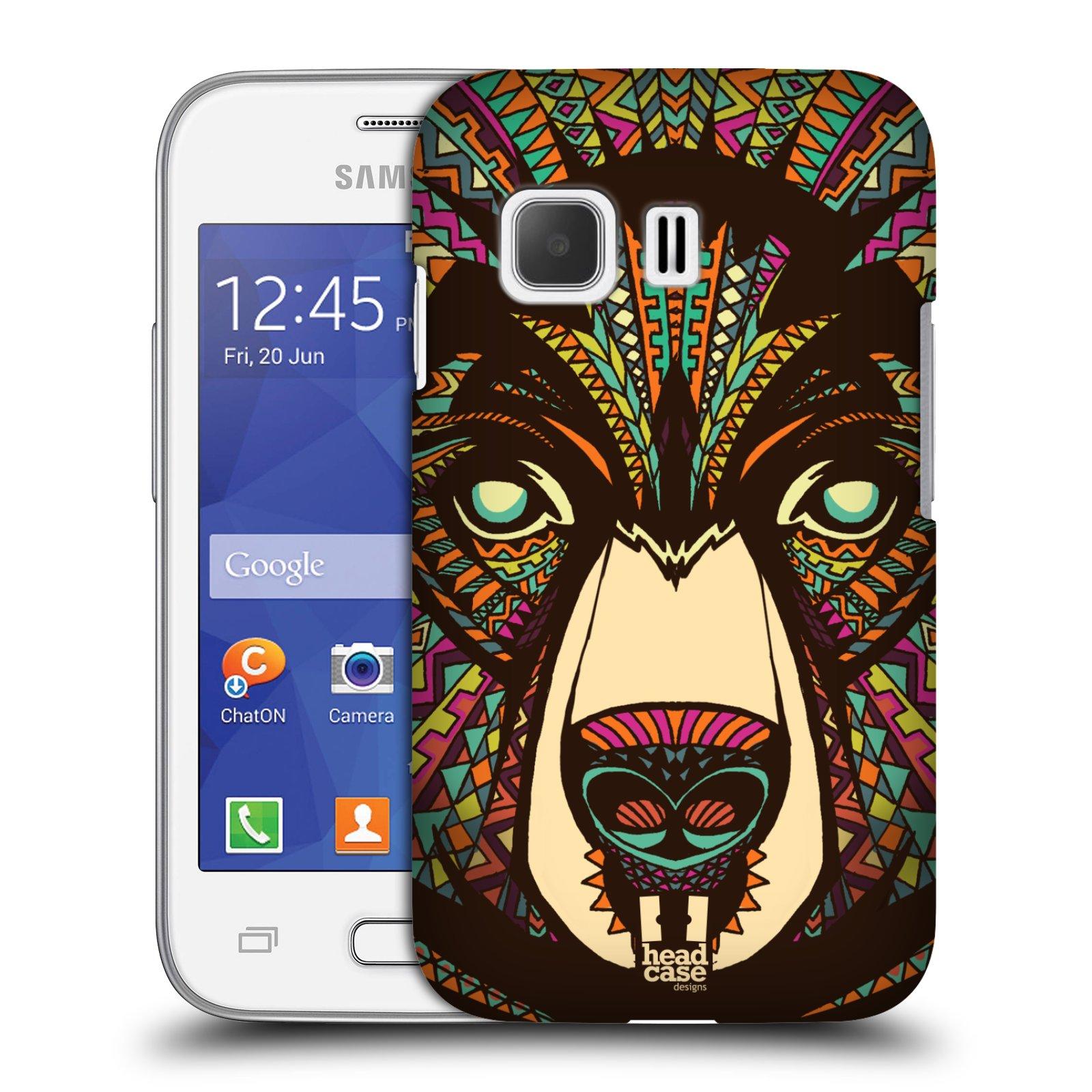 HEAD CASE plastový obal na mobil SAMSUNG Galaxy Young 2 (G130) vzor Aztécký motiv zvíře medvěd