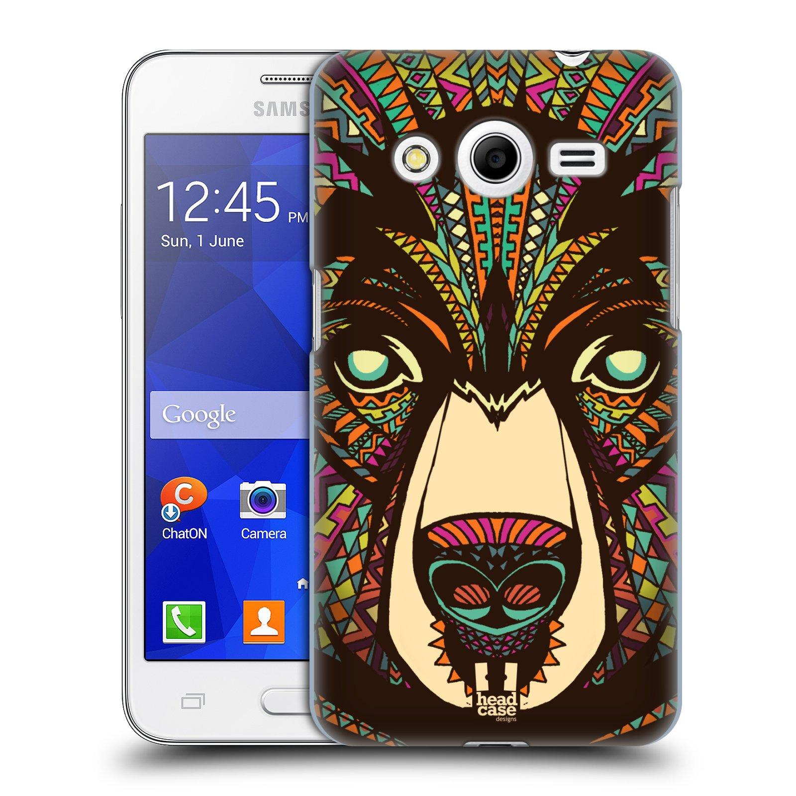 HEAD CASE plastový obal na mobil SAMSUNG GALAXY Core 2 (G355H) vzor Aztécký motiv zvíře medvěd