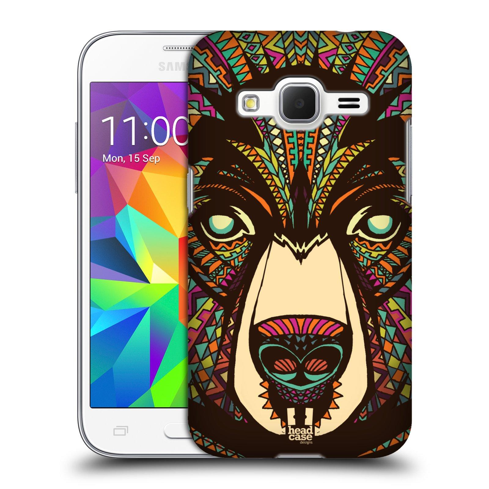 HEAD CASE plastový obal na mobil SAMSUNG GALAXY Core Prime (Core Prime VE) vzor Aztécký motiv zvíře medvěd