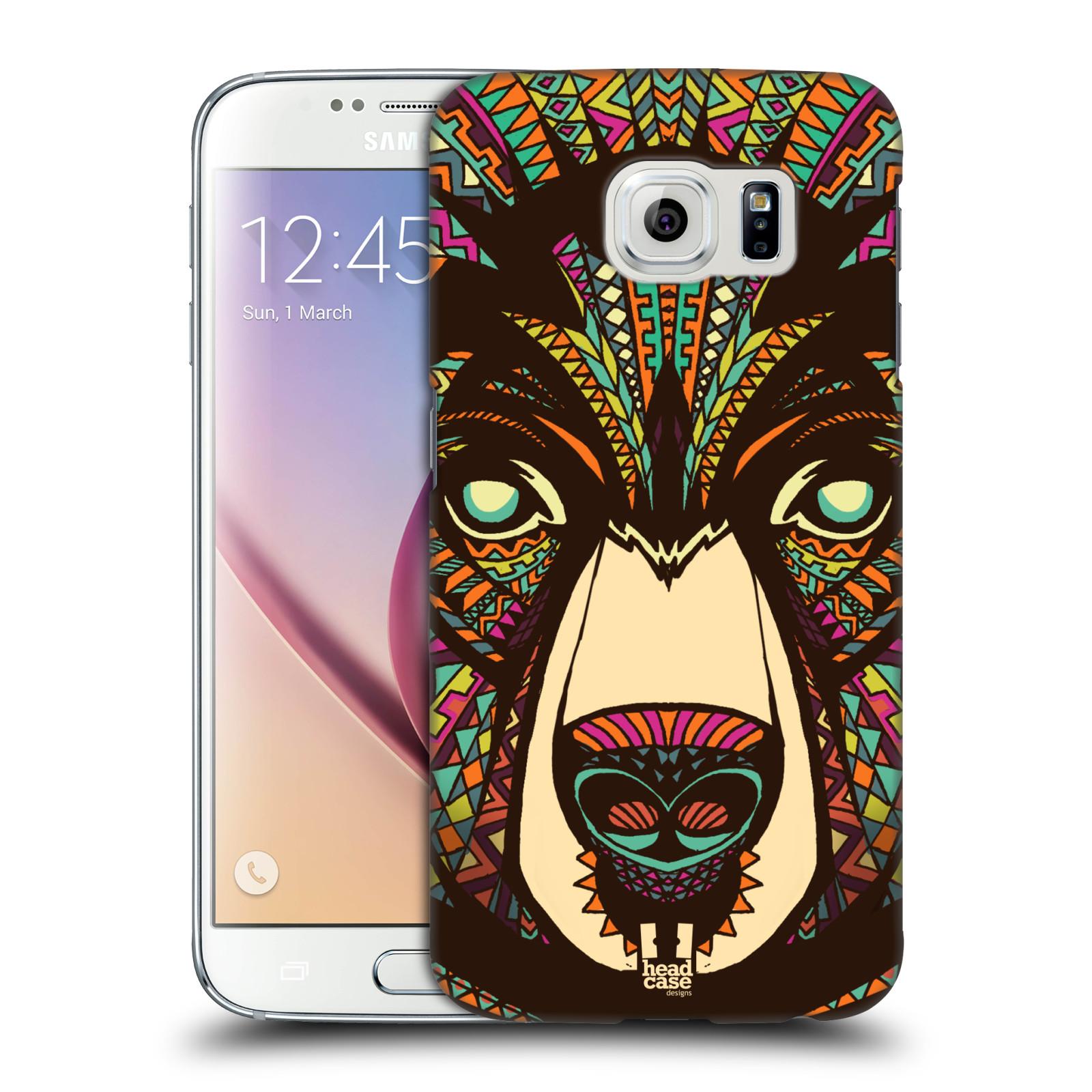 HEAD CASE plastový obal na mobil SAMSUNG Galaxy S6 (G9200, G920F) vzor Aztécký motiv zvíře medvěd