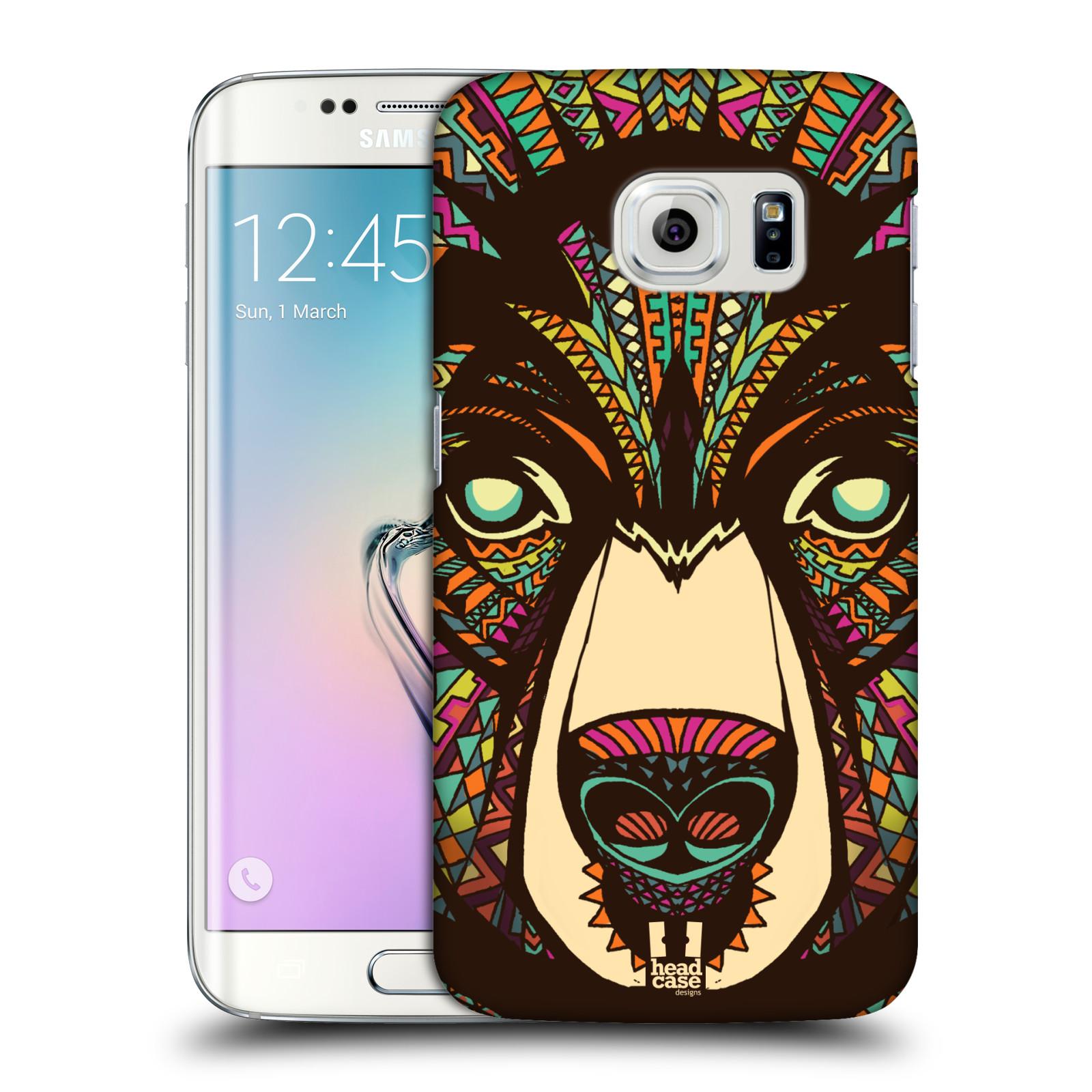 HEAD CASE plastový obal na mobil SAMSUNG Galaxy S6 EDGE (G9250, G925, G925F) vzor Aztécký motiv zvíře medvěd